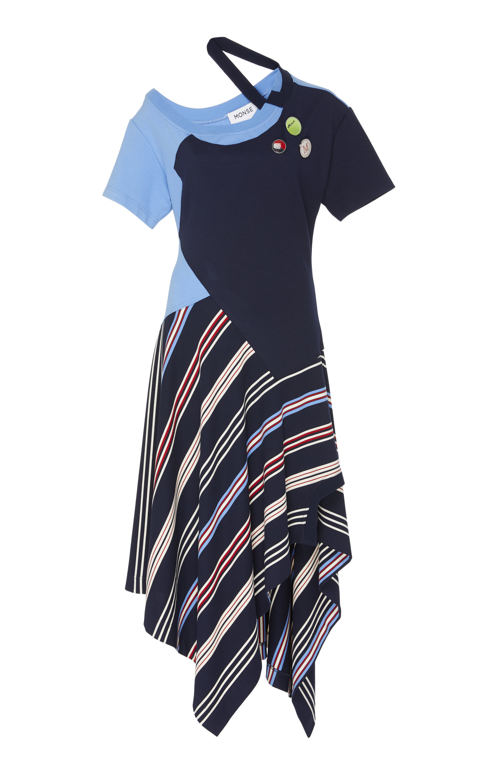 Striped Deconstructed Jersey T Shirt Dress By Monse Moda Operandi