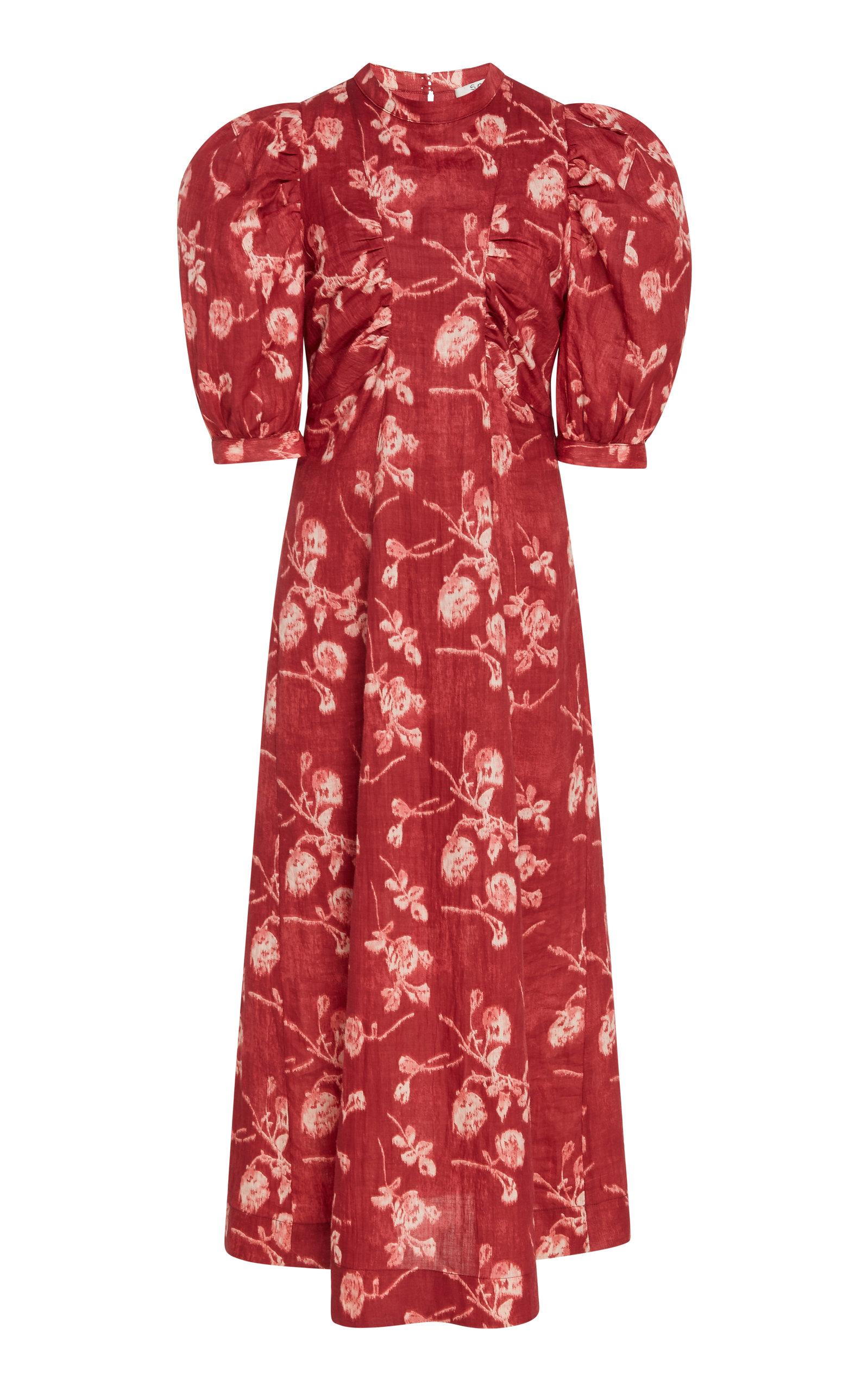 Buy Sea Monet Floral-Print Cotton-Poplin Midi Dress online, shop Sea at the best price