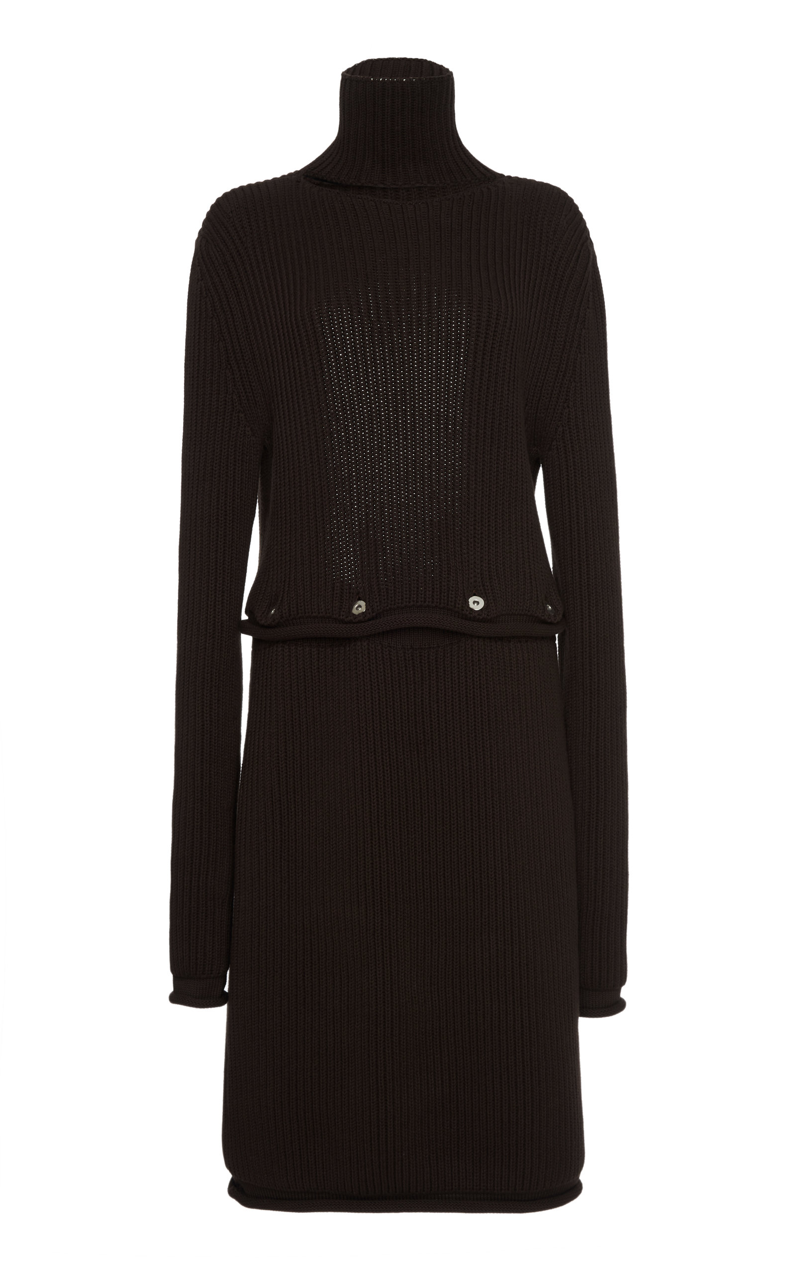 Buy Bottega Veneta Backless Ribbed Cotton Midi Dress online, shop Bottega Veneta at the best price