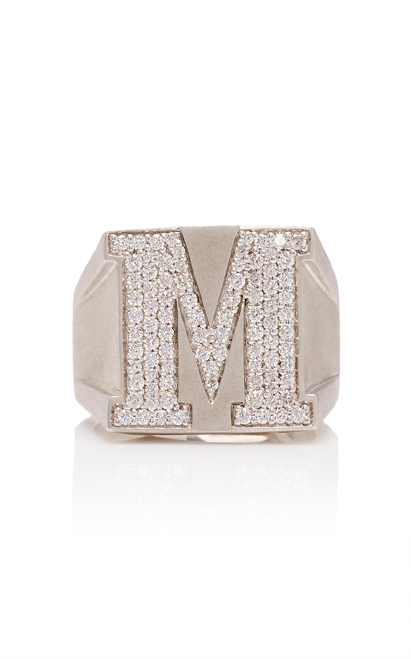 Women's Sterling Silver Diamond Ring