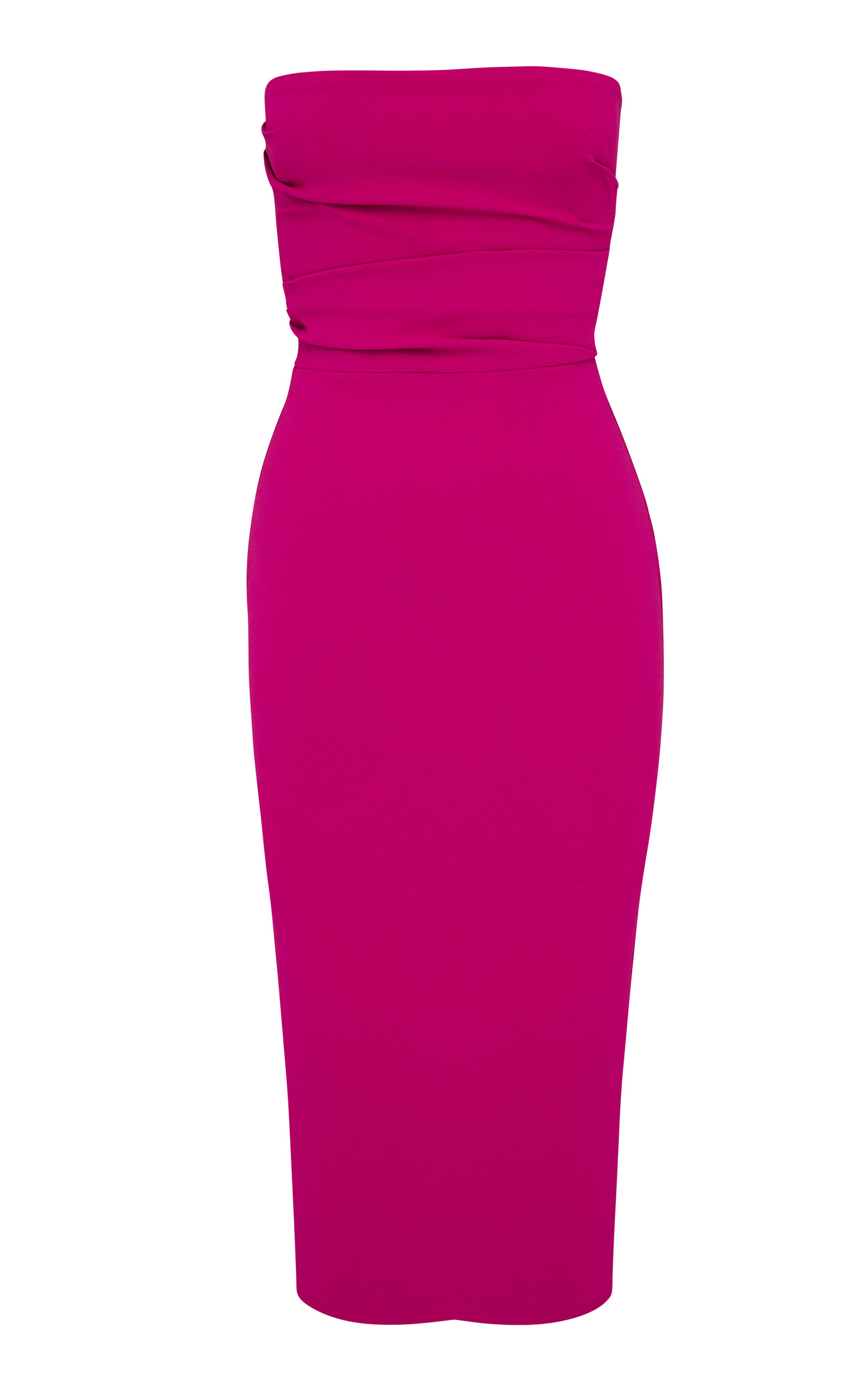Buy Alex Perry Dylan Strapless Stretch Crepe Midi Dress online, shop Alex Perry at the best price