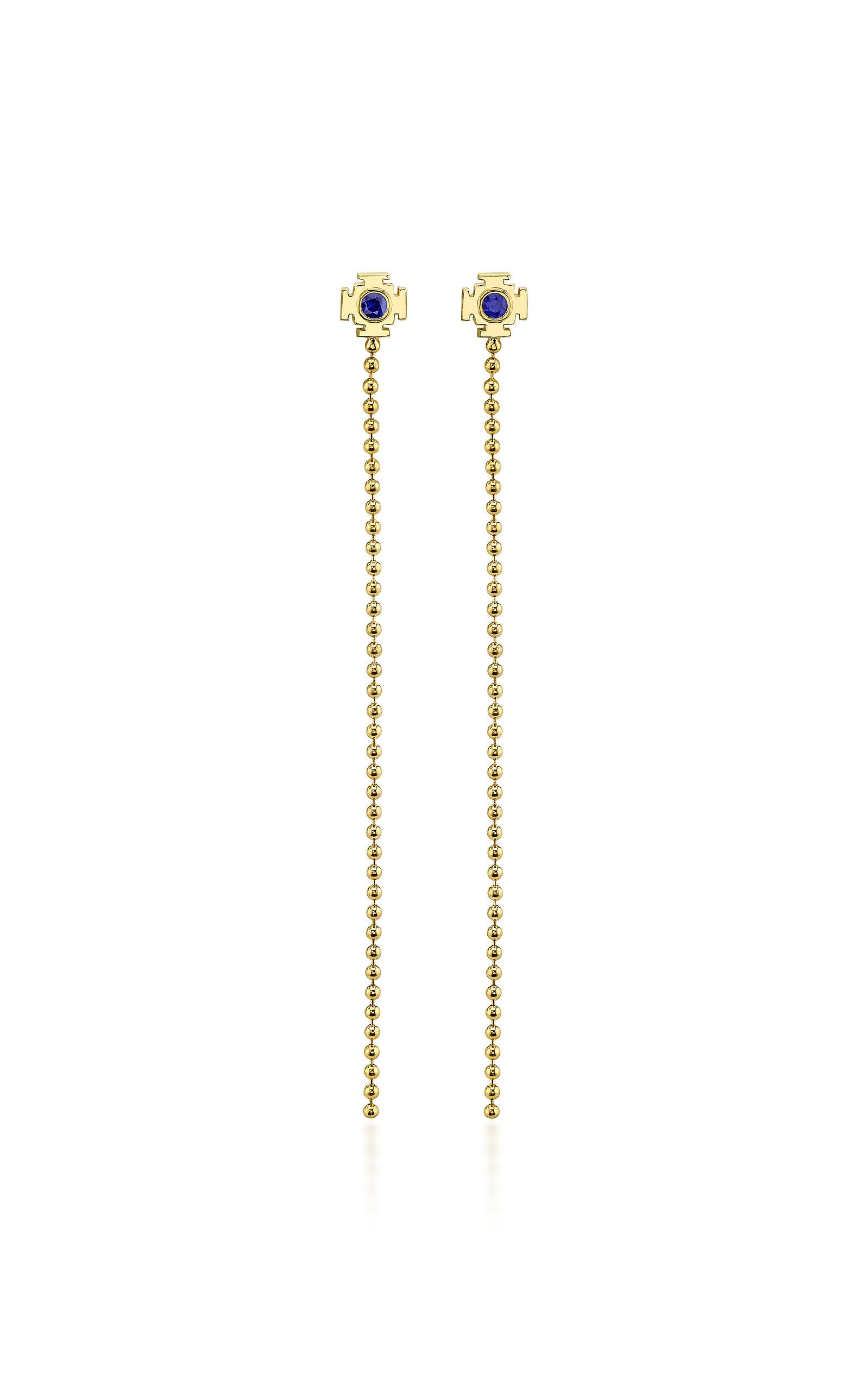 Women's 18K Gold Sapphire Earrings