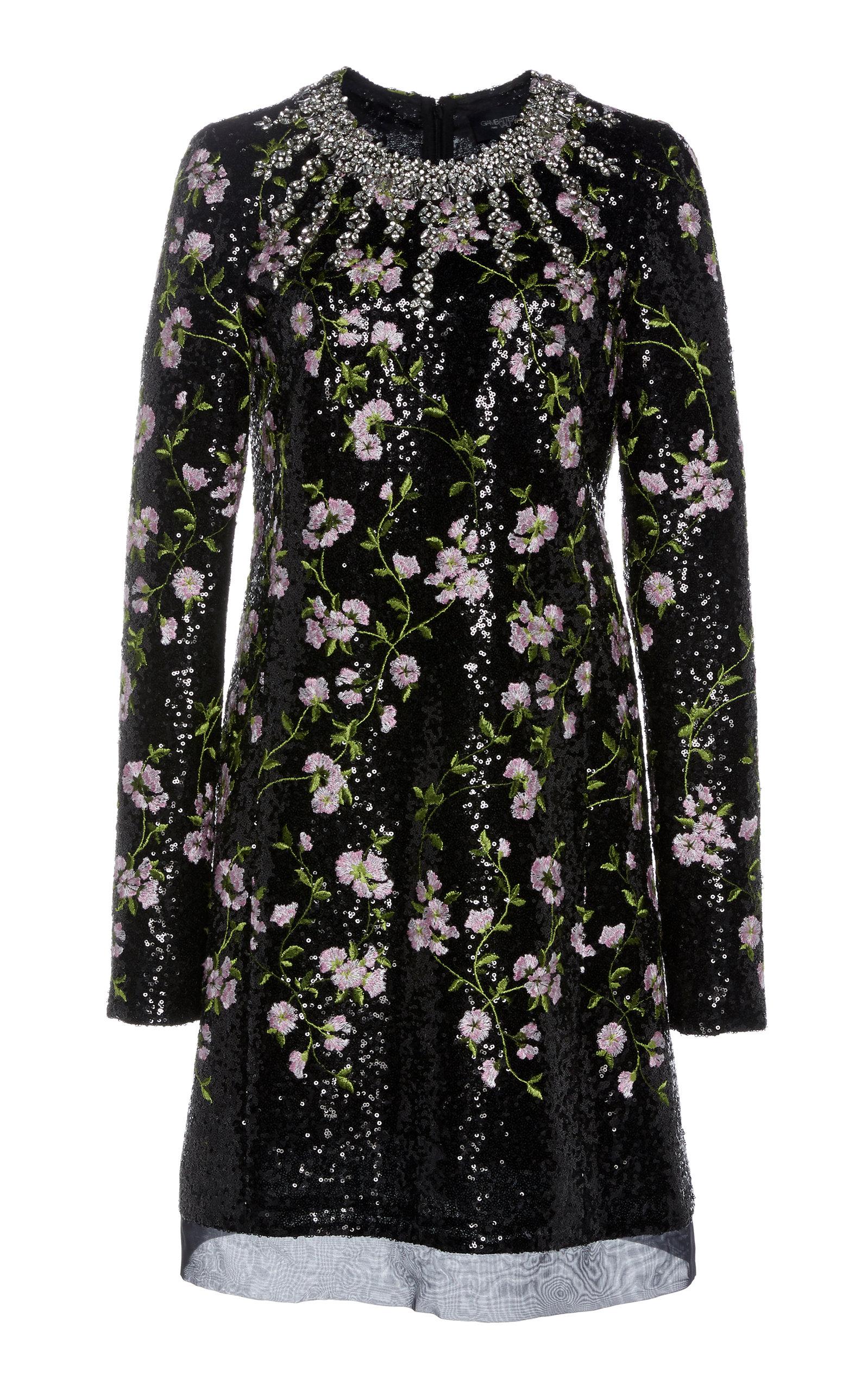 Buy Giambattista Valli Floral-Embroidered Sequined Mini Dress online, shop Giambattista Valli at the best price