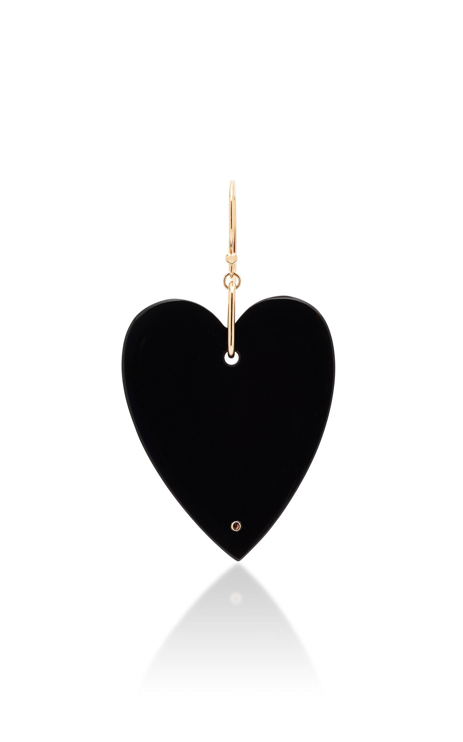 Women's Solo Angèle 18K Rose Gold Onyx Single Earring