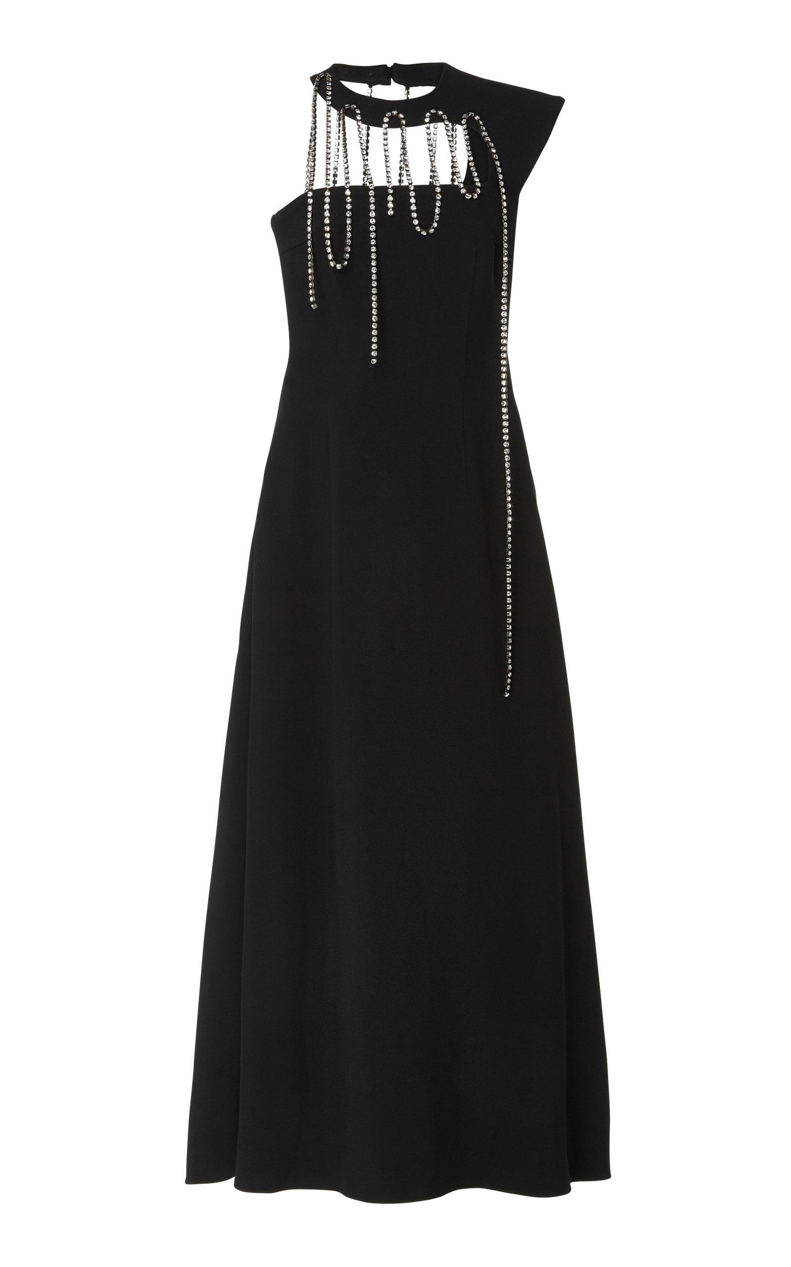 Buy Christopher Kane Crystal-Embellished One-Shoulder Crepe Gown online, shop Christopher Kane at the best price