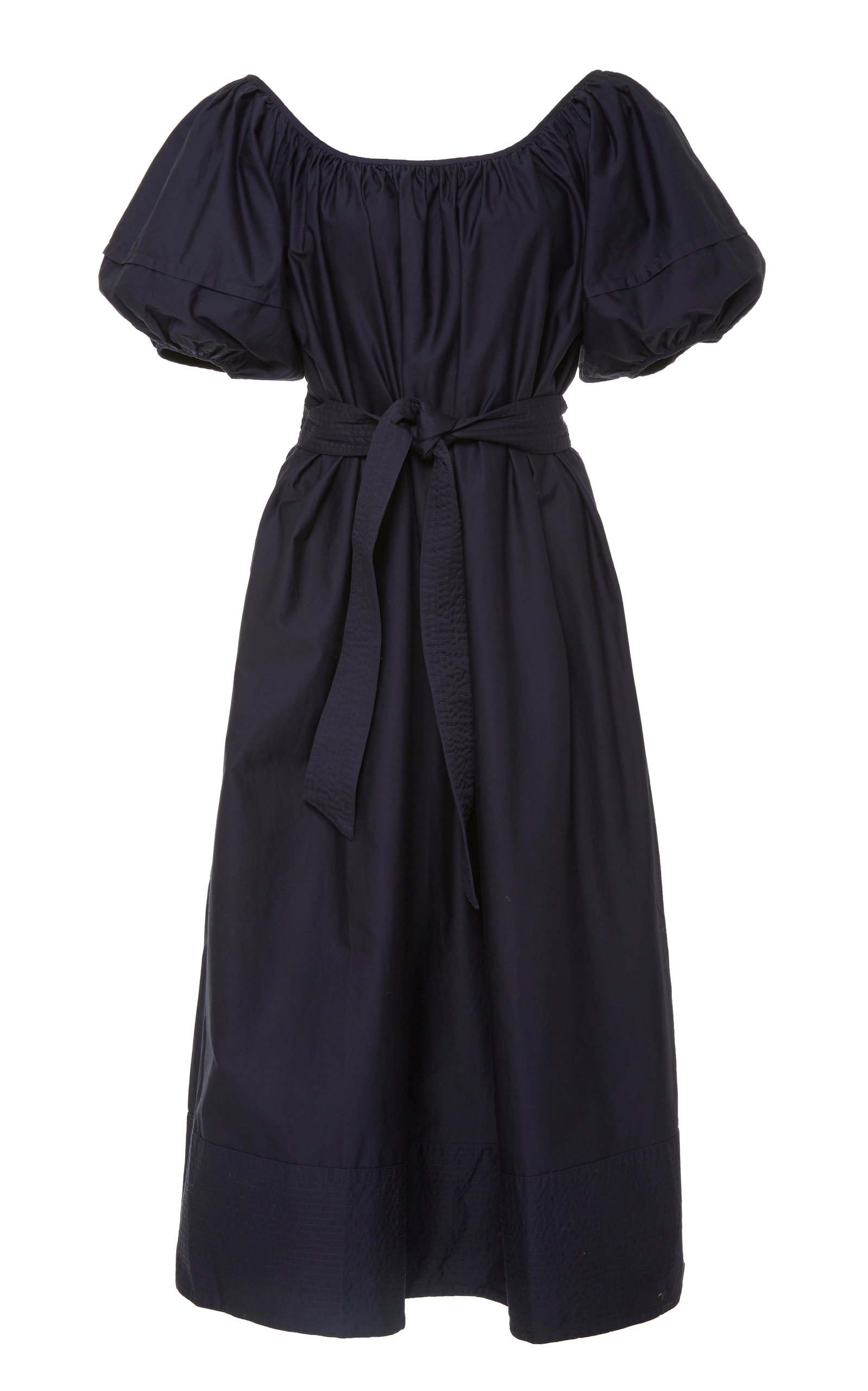 Buy Co Belted Cotton-Jersey Midi Dress online, shop Co at the best price