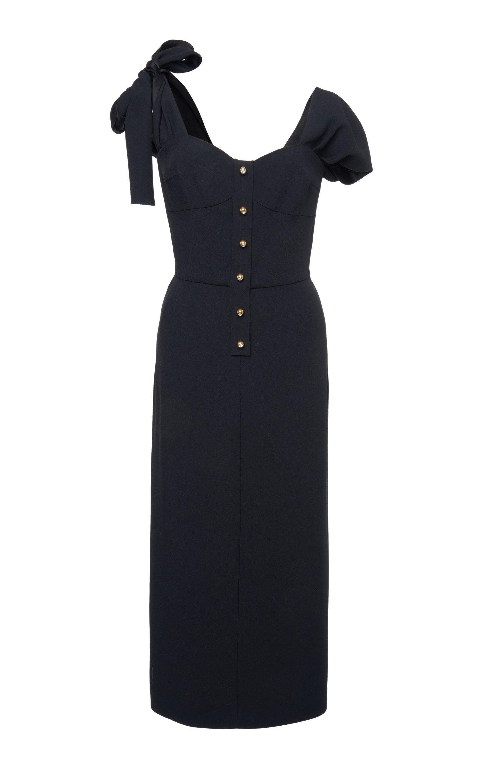 Buy Prada Tie-Detailed Satin-Crepe Midi Dress online, shop Prada at the best price