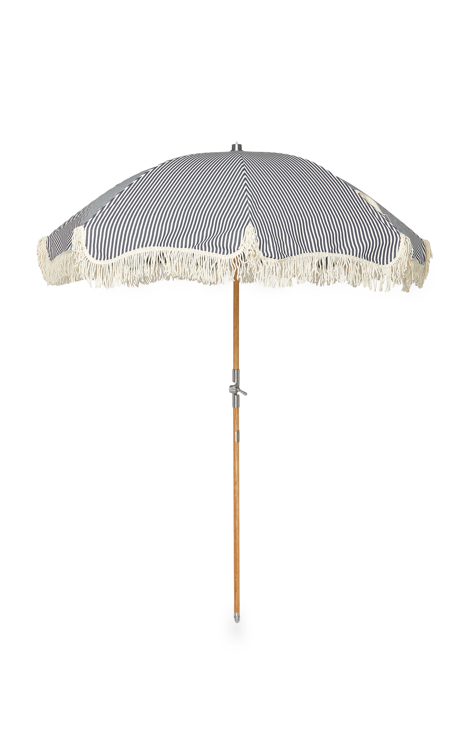 Striped Canvas Beach Umbrella