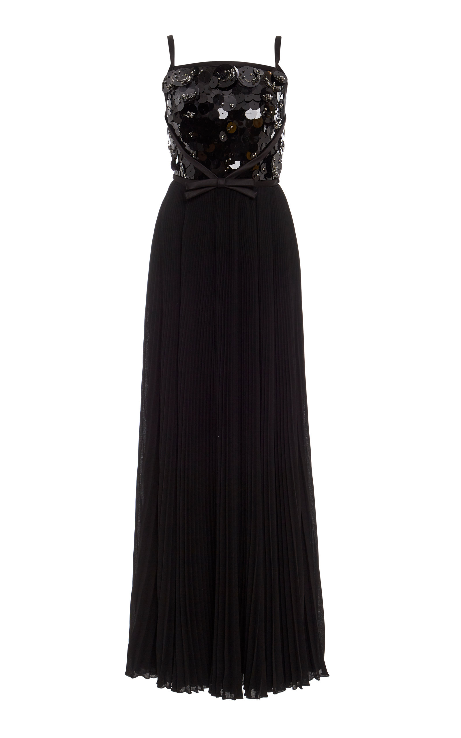Buy Prada Embellished Pleated Maxi Gown online, shop Prada at the best price
