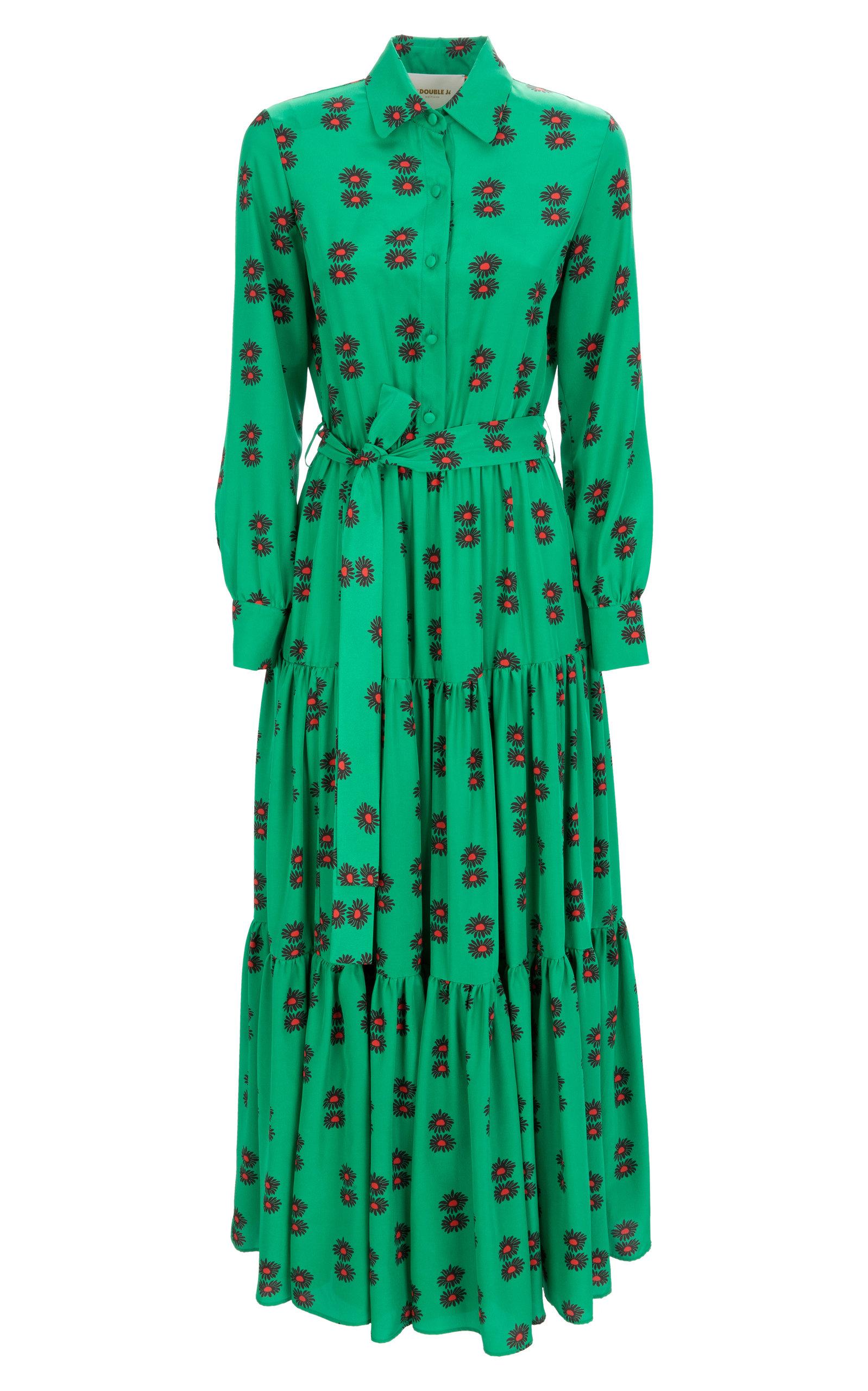 Buy La DoubleJ Bellini Printed Crepe Maxi Dress online, shop La DoubleJ at the best price