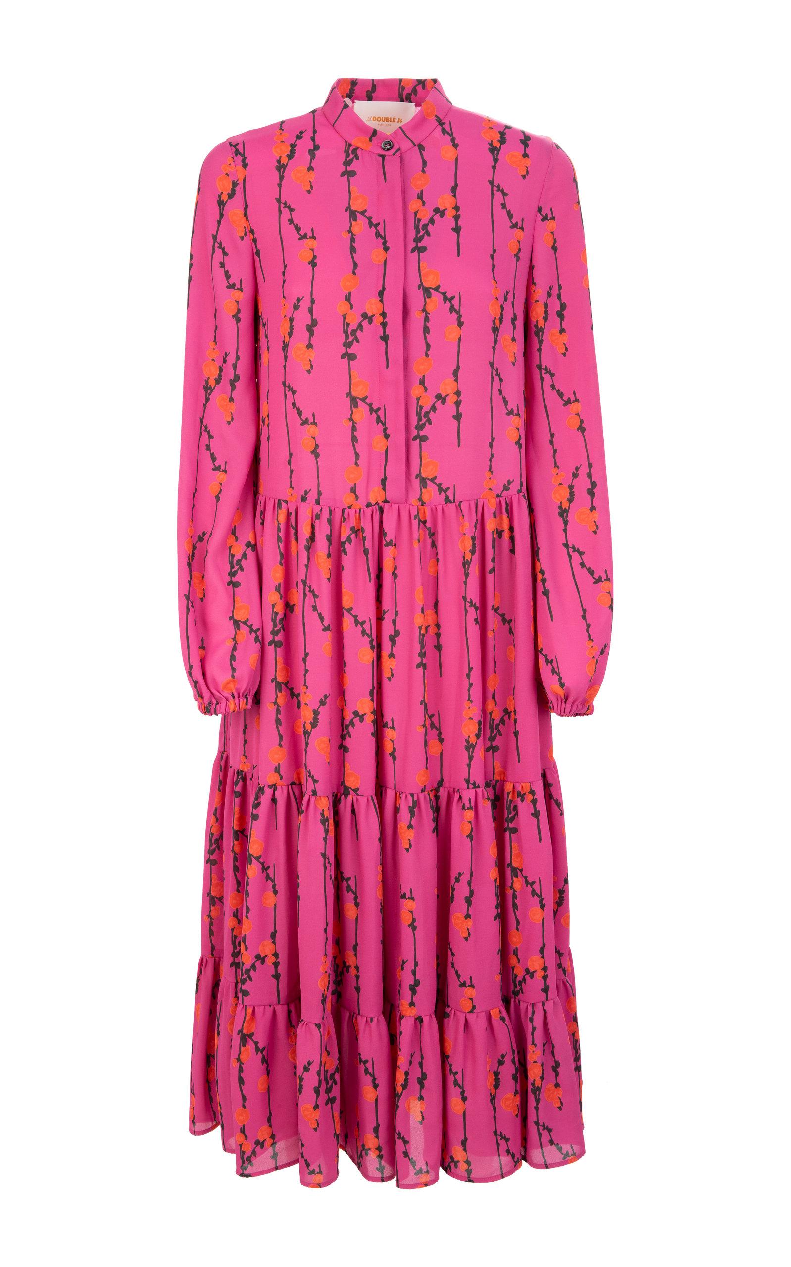 Buy La DoubleJ Floral-Print Crepe Midi Dress online, shop La DoubleJ at the best price