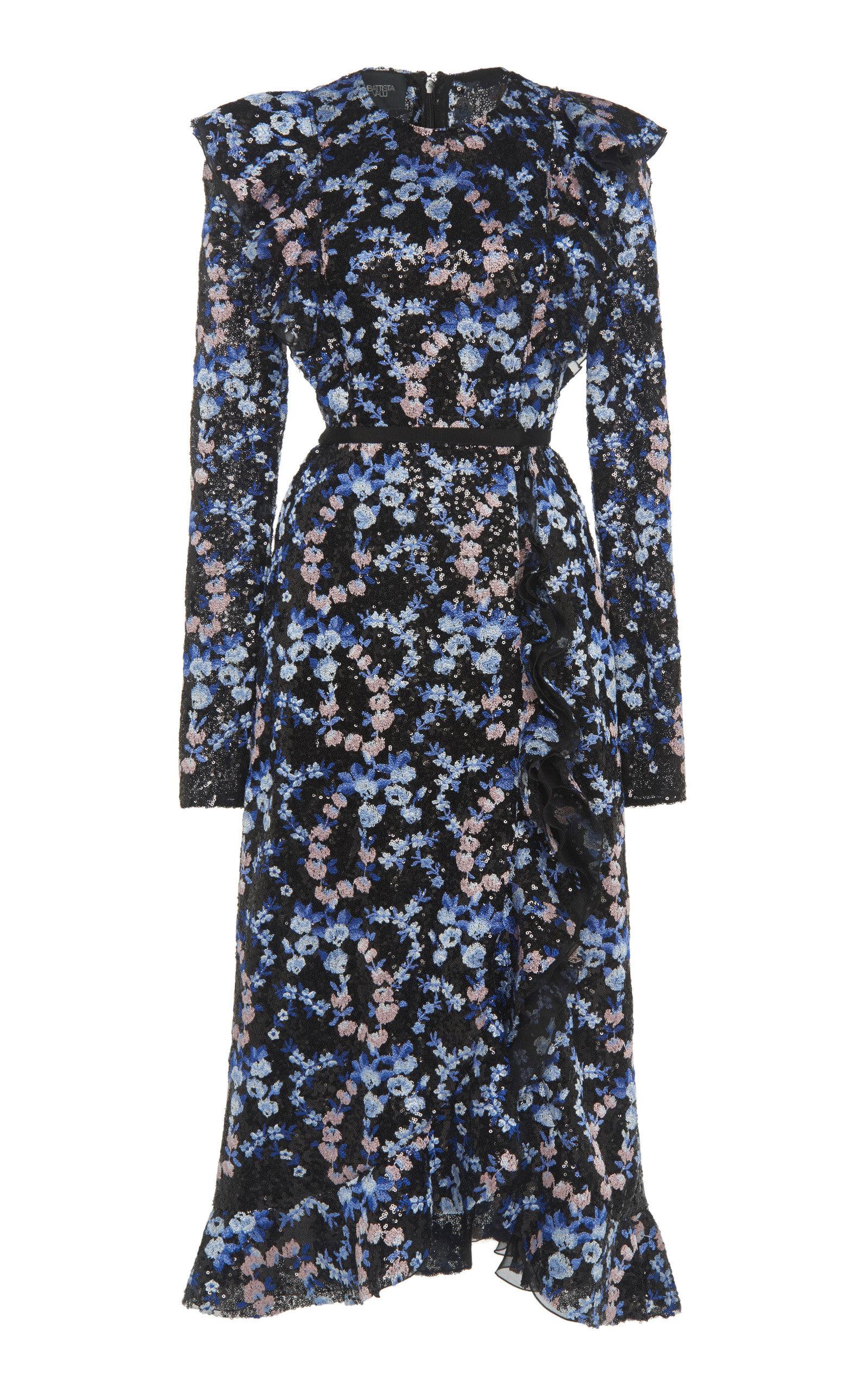 Buy Giambattista Valli Sequined Floral Chiffon Dress online, shop Giambattista Valli at the best price