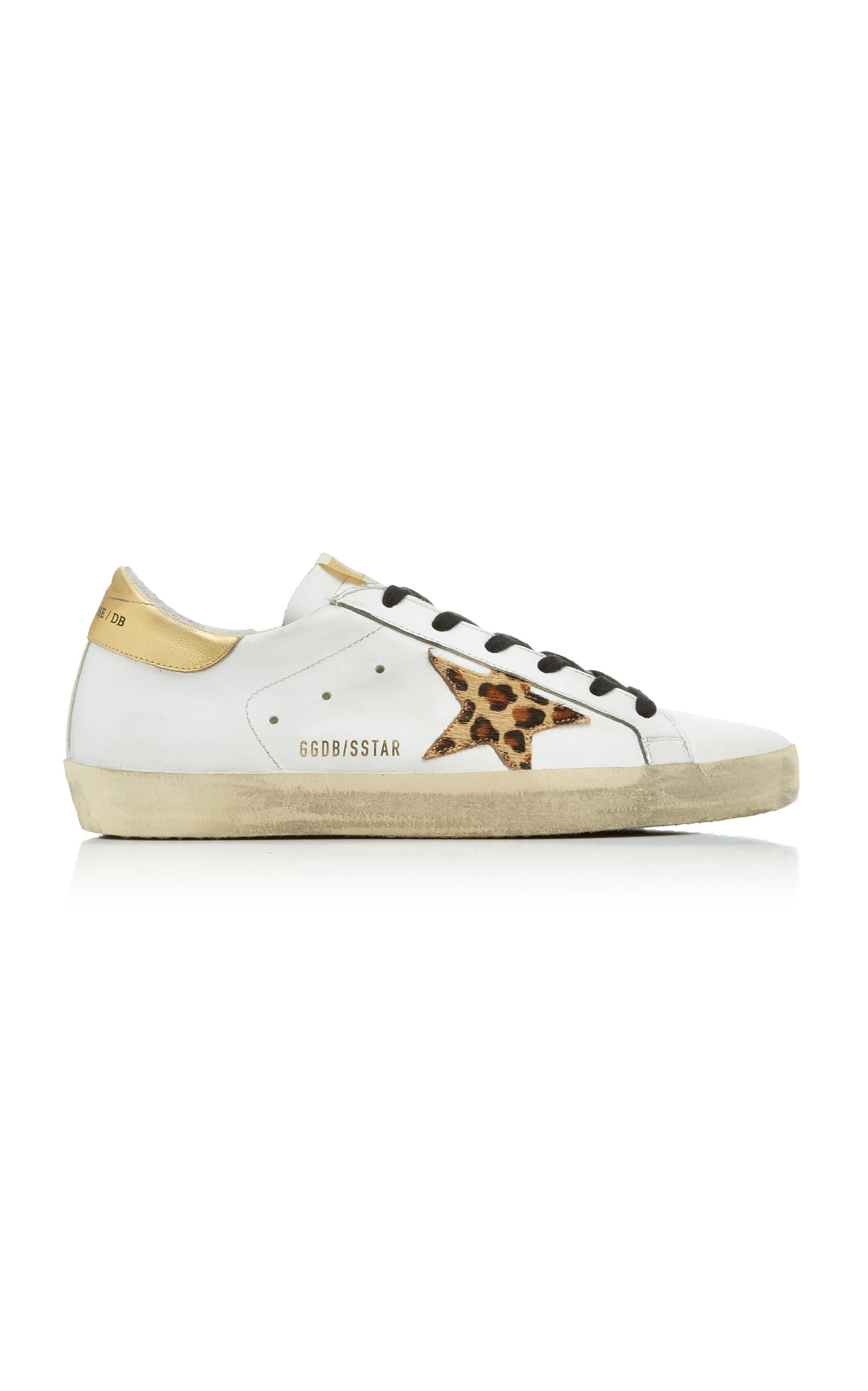 Golden Goose - Women's Superstar Distressed Leather Sneakers - Multi - Moda Operandi