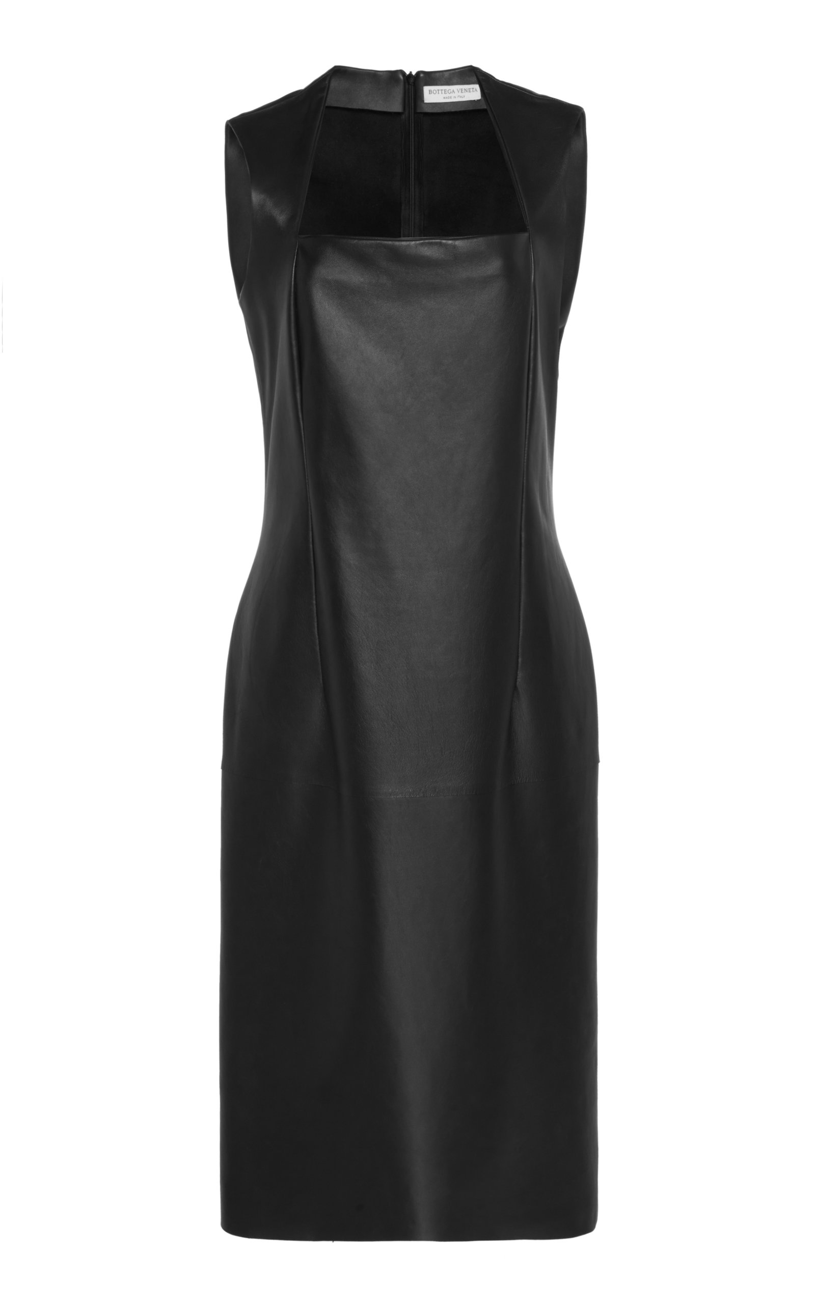 Buy Bottega Veneta Leather Midi Dress online, shop Bottega Veneta at the best price