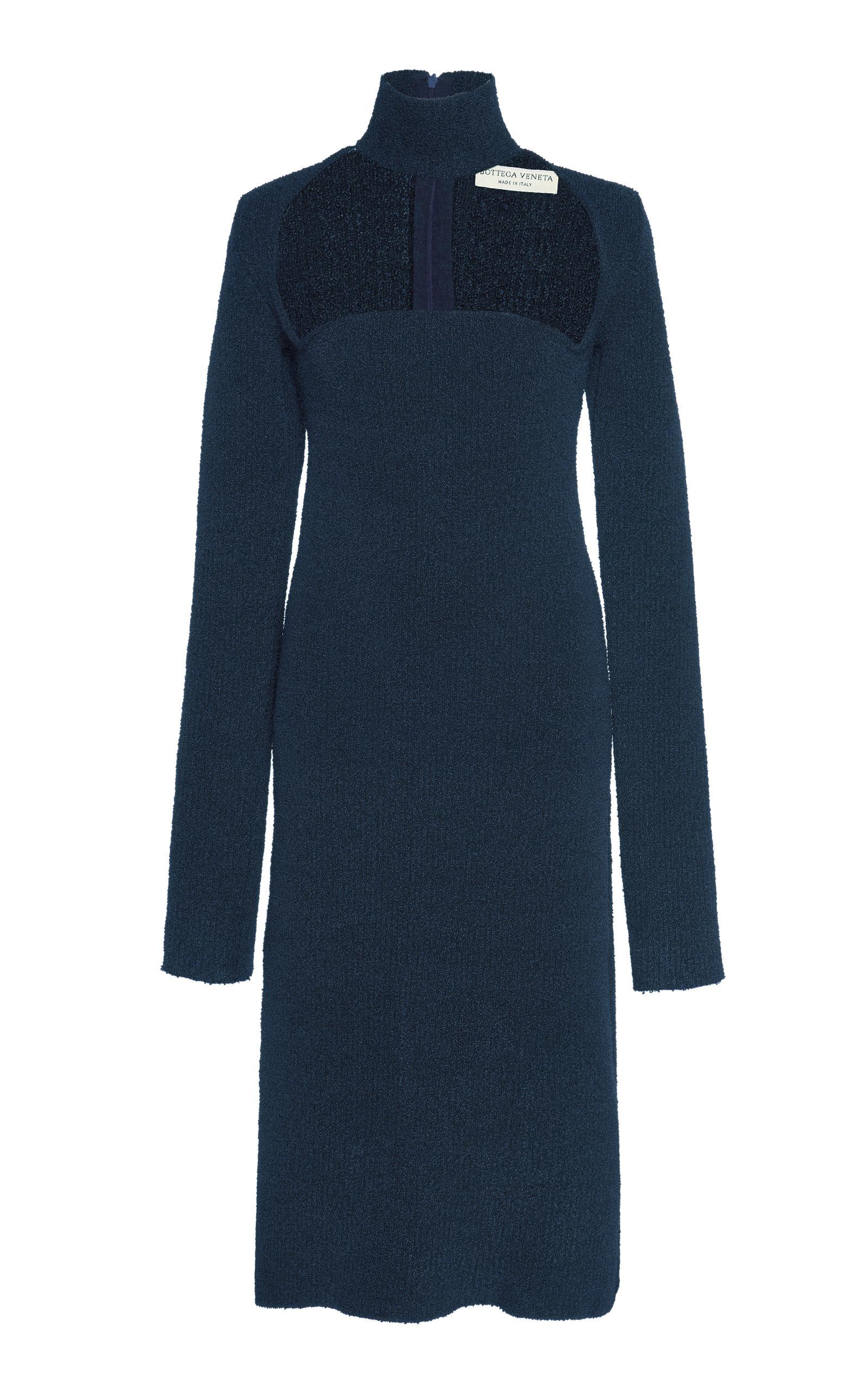 Buy Bottega Veneta Cutout Turtleneck Stretch-Wool Crepe Dress online, shop Bottega Veneta at the best price