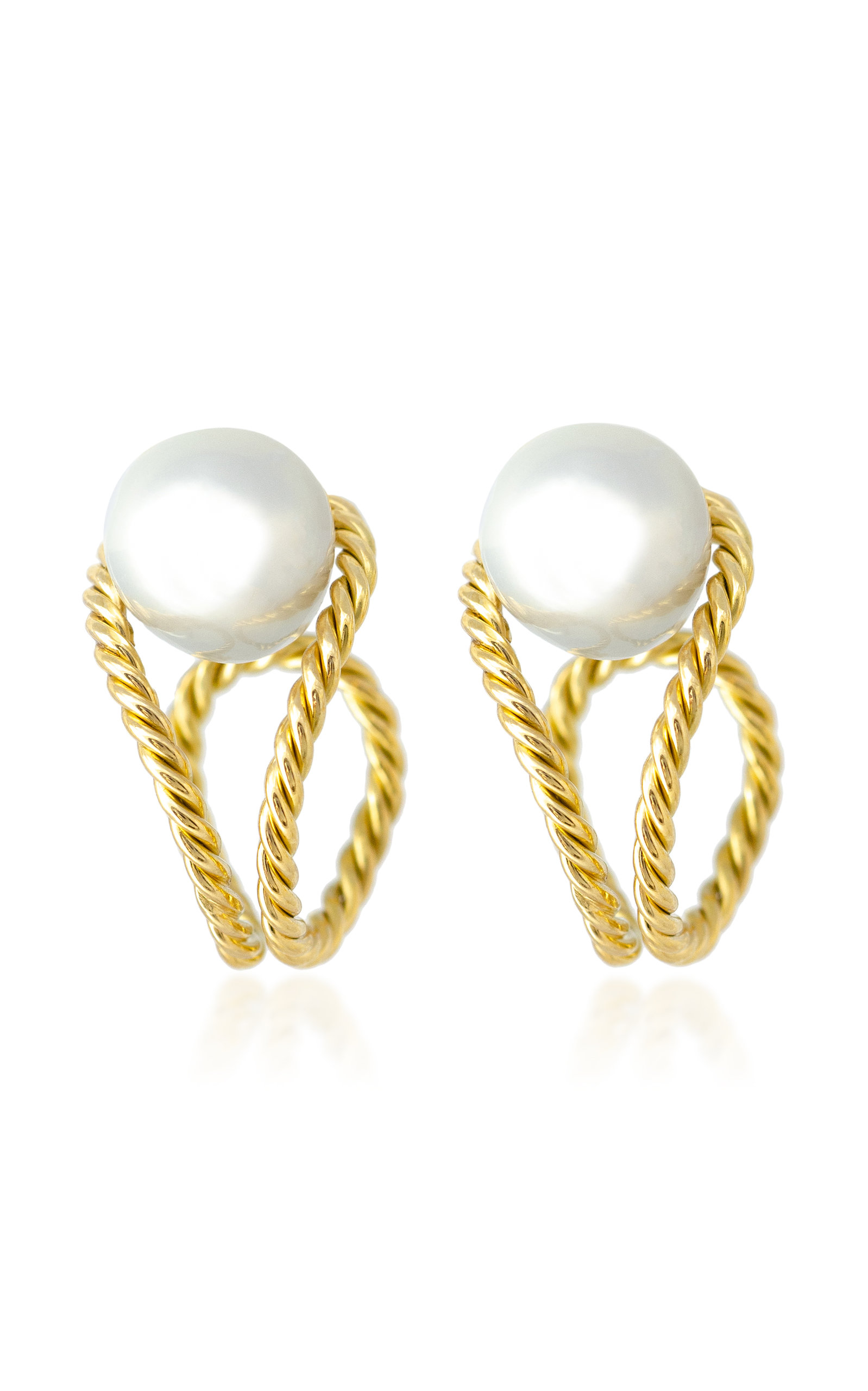 Women's 18K Gold And Pearl Earrings