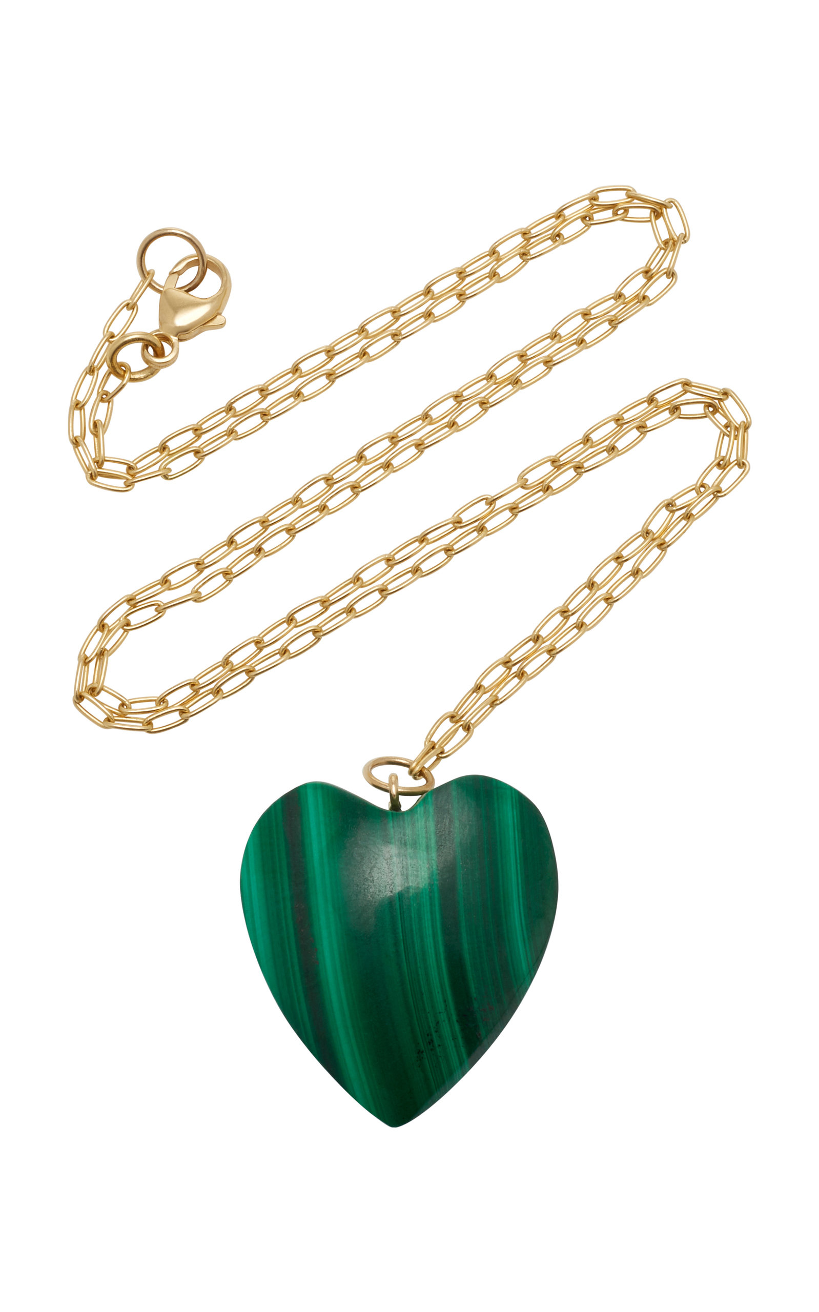 Women's 18K Gold And Malachite Necklace