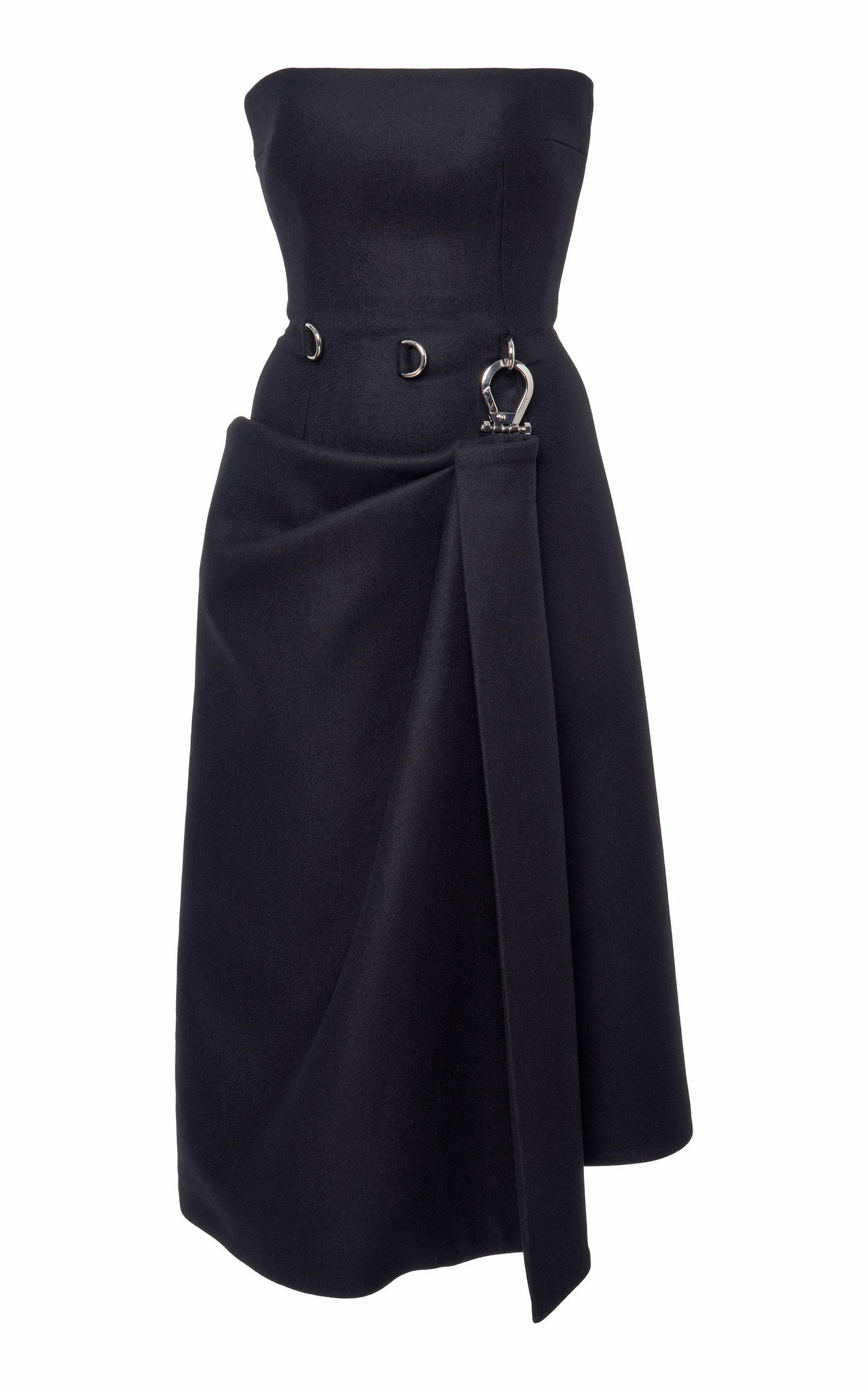 Buy Prada Strapless Wool-Crepe Corset Dress online, shop Prada at the best price