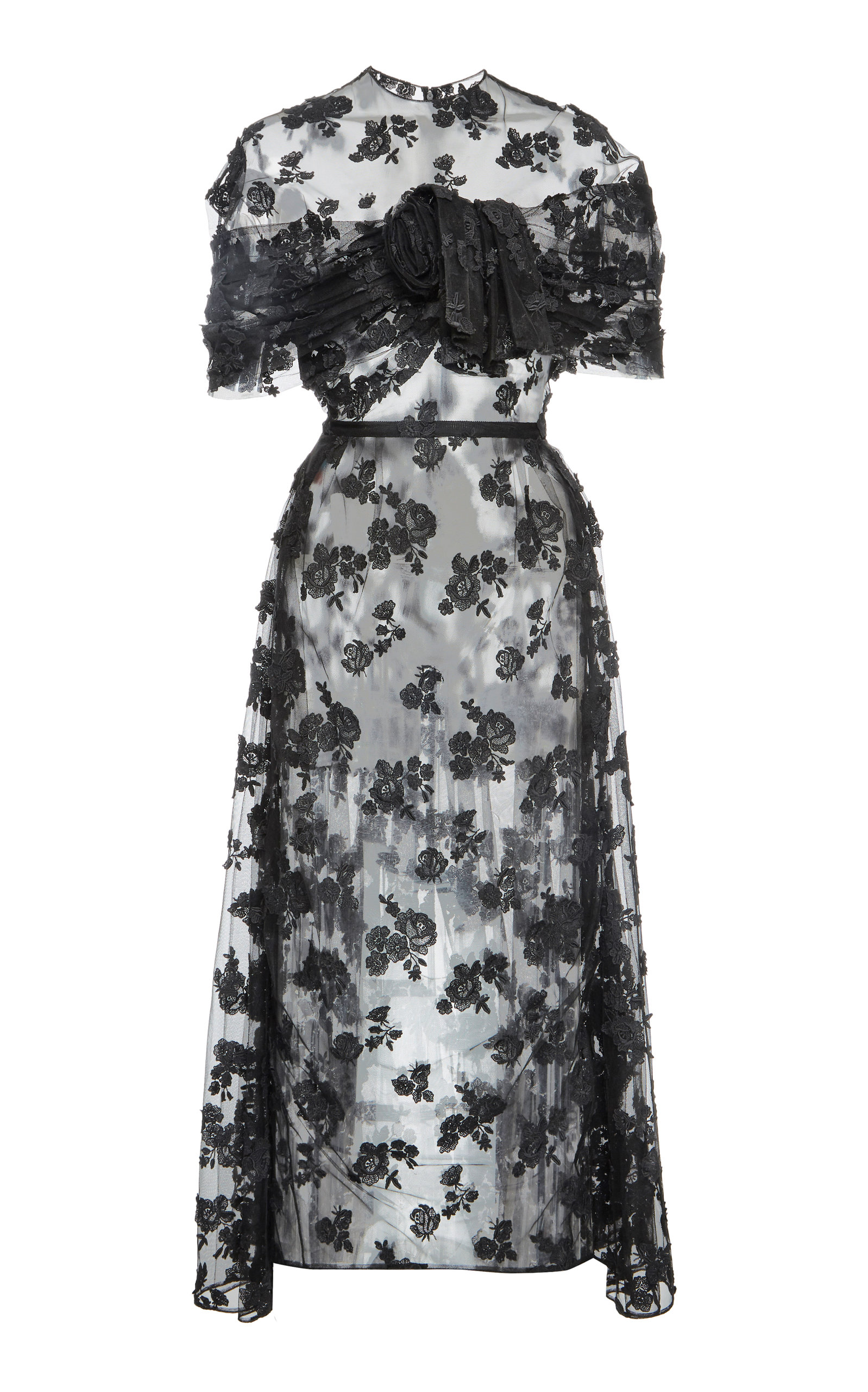Buy Prada Cotton-Blend Lace Midi Dress online, shop Prada at the best price