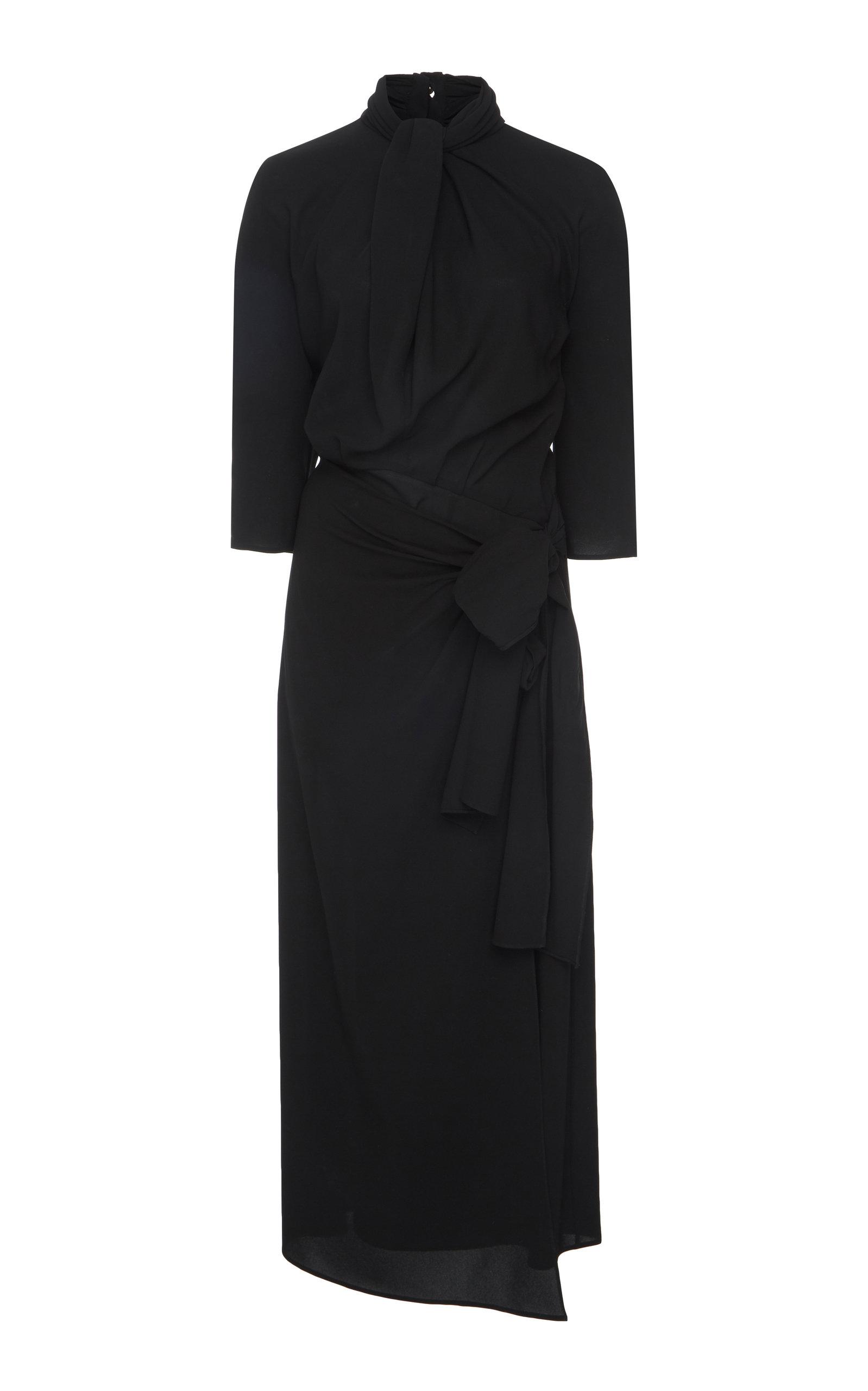 Buy Prada Draped Chiffon Midi Dress online, shop Prada at the best price