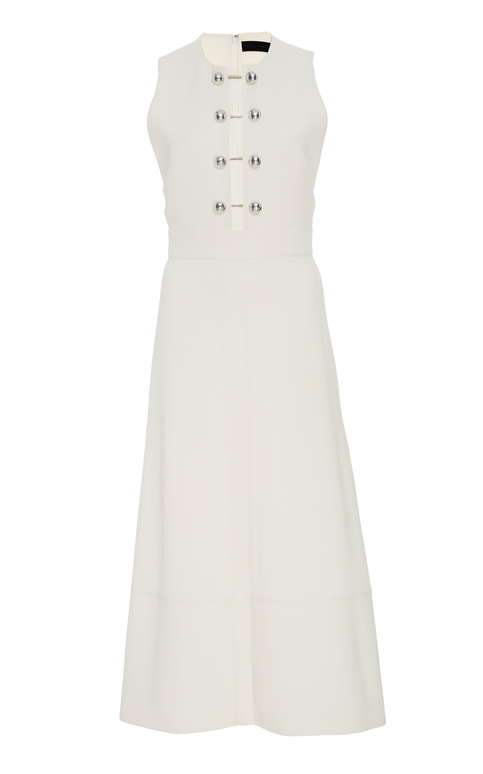 Buy Proenza Schouler Embellished Cut-Out Crepe Midi Dress online, shop Proenza Schouler at the best price