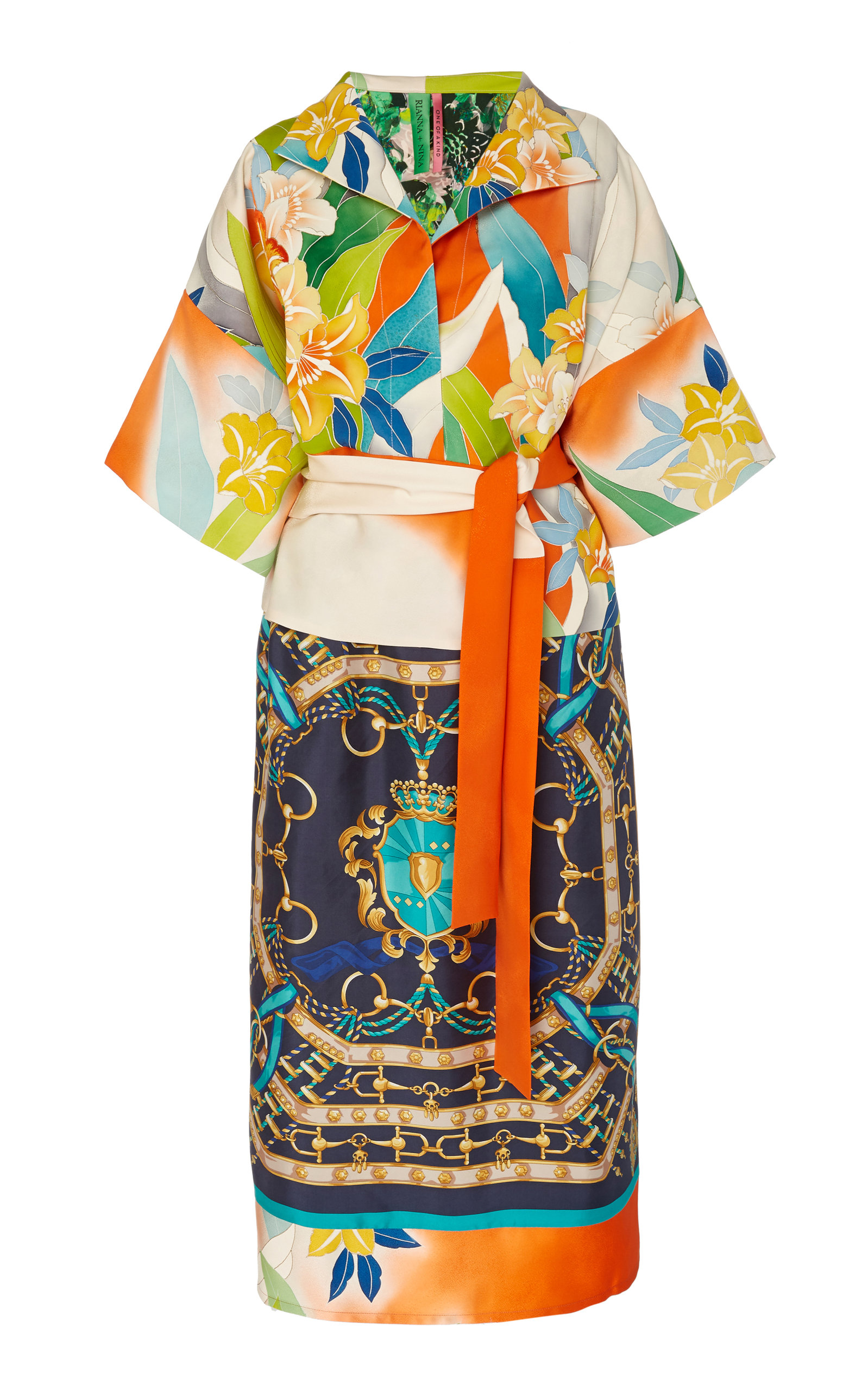 Buy Rianna + Nina Exclusive One Of A Kind Vibrant Silk Dress online, shop Rianna + Nina at the best price