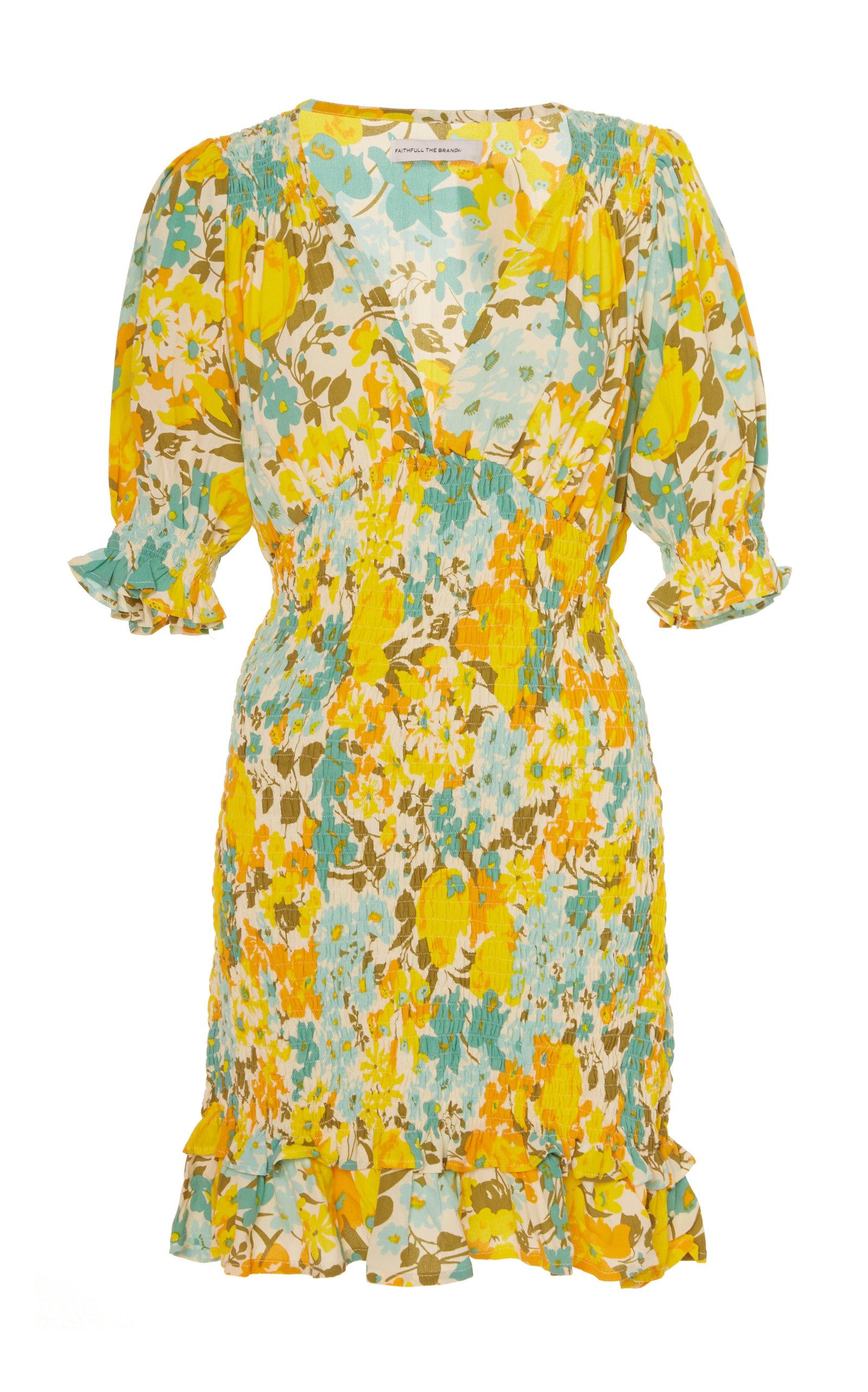 Buy Faithfull The Brand Margherita Floral-Print Crepe Mini Dress online, shop Faithfull The Brand at the best price
