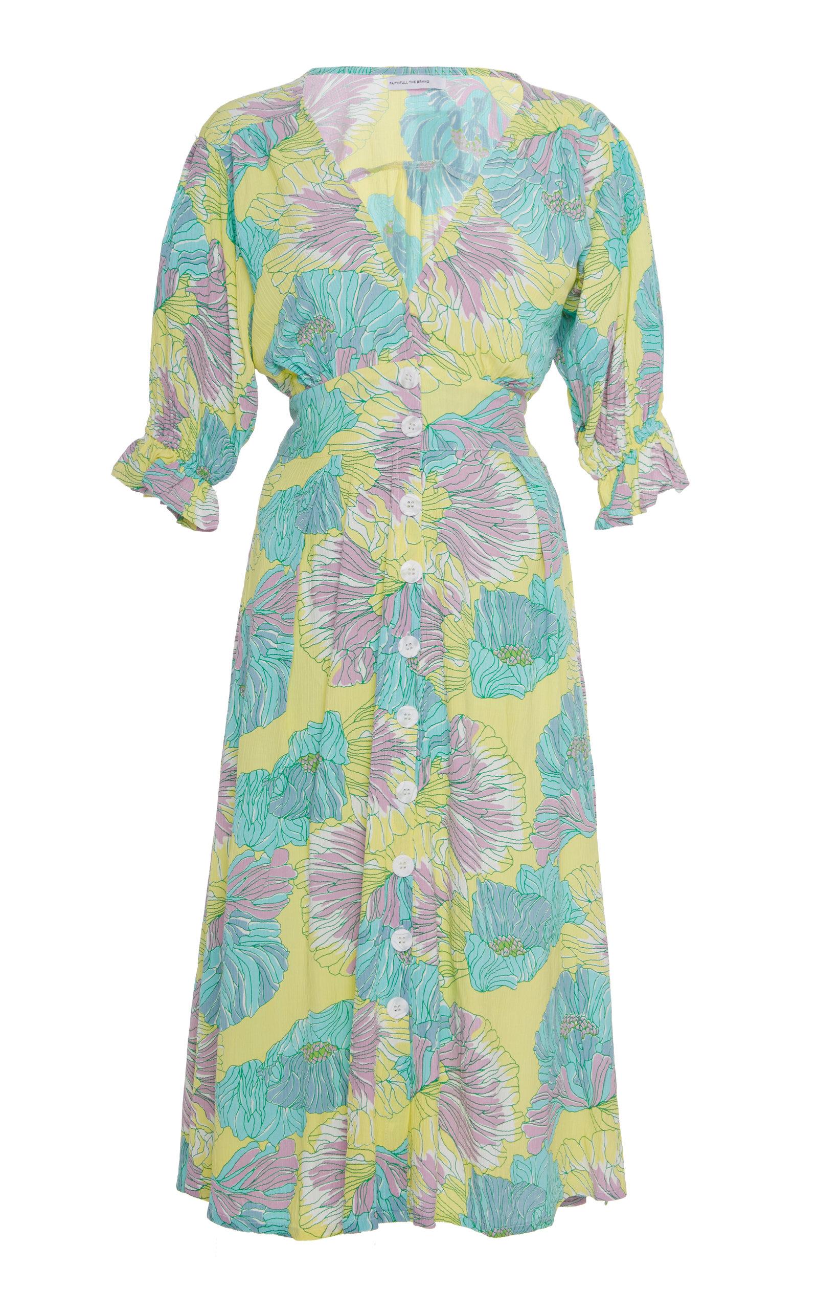 Buy Faithfull The Brand Rafa Floral-Print Crepe Midi Dress online, shop Faithfull The Brand at the best price