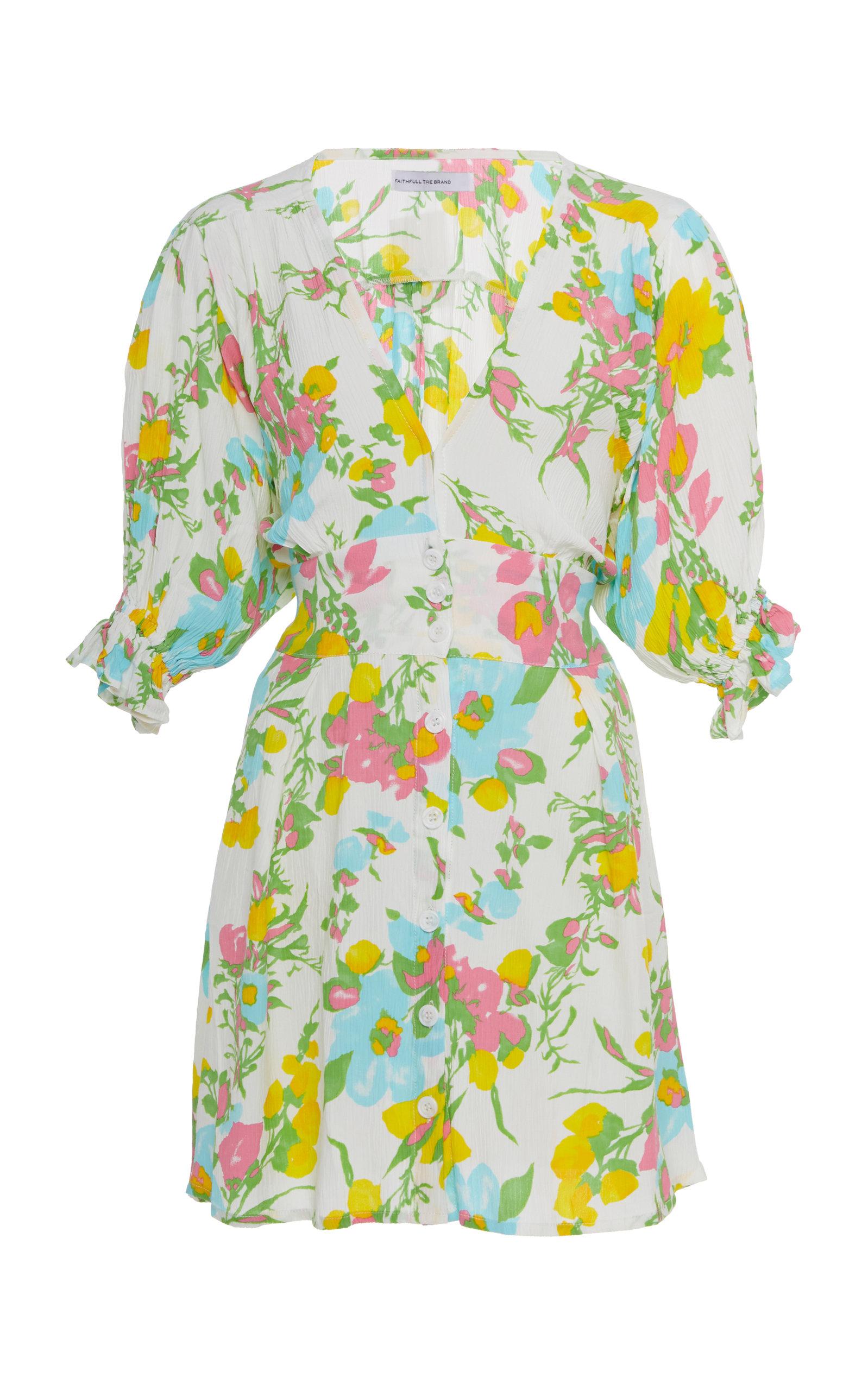 Buy Faithfull The Brand Caliente Floral Mini Dress online, shop Faithfull The Brand at the best price
