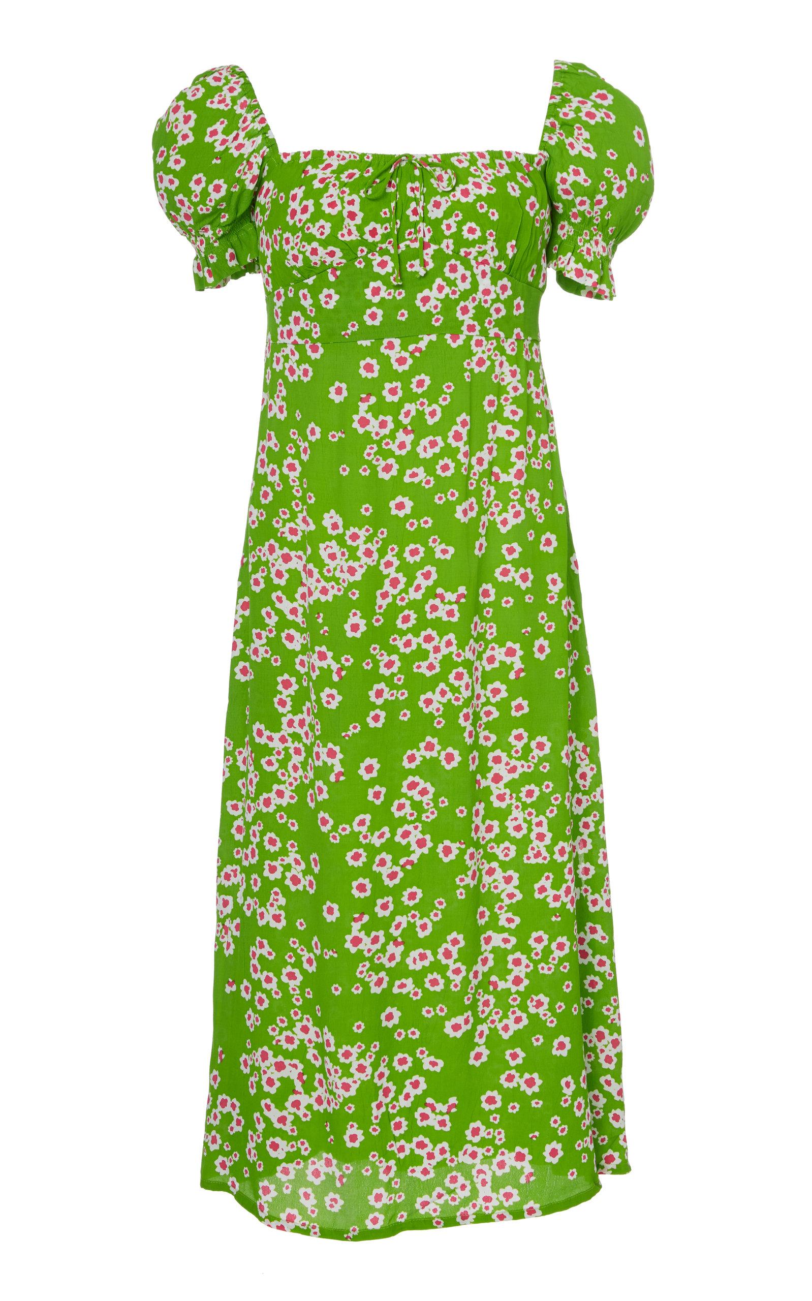 Buy Faithfull The Brand Evelyn Floral-Print Midi Dress online, shop Faithfull The Brand at the best price