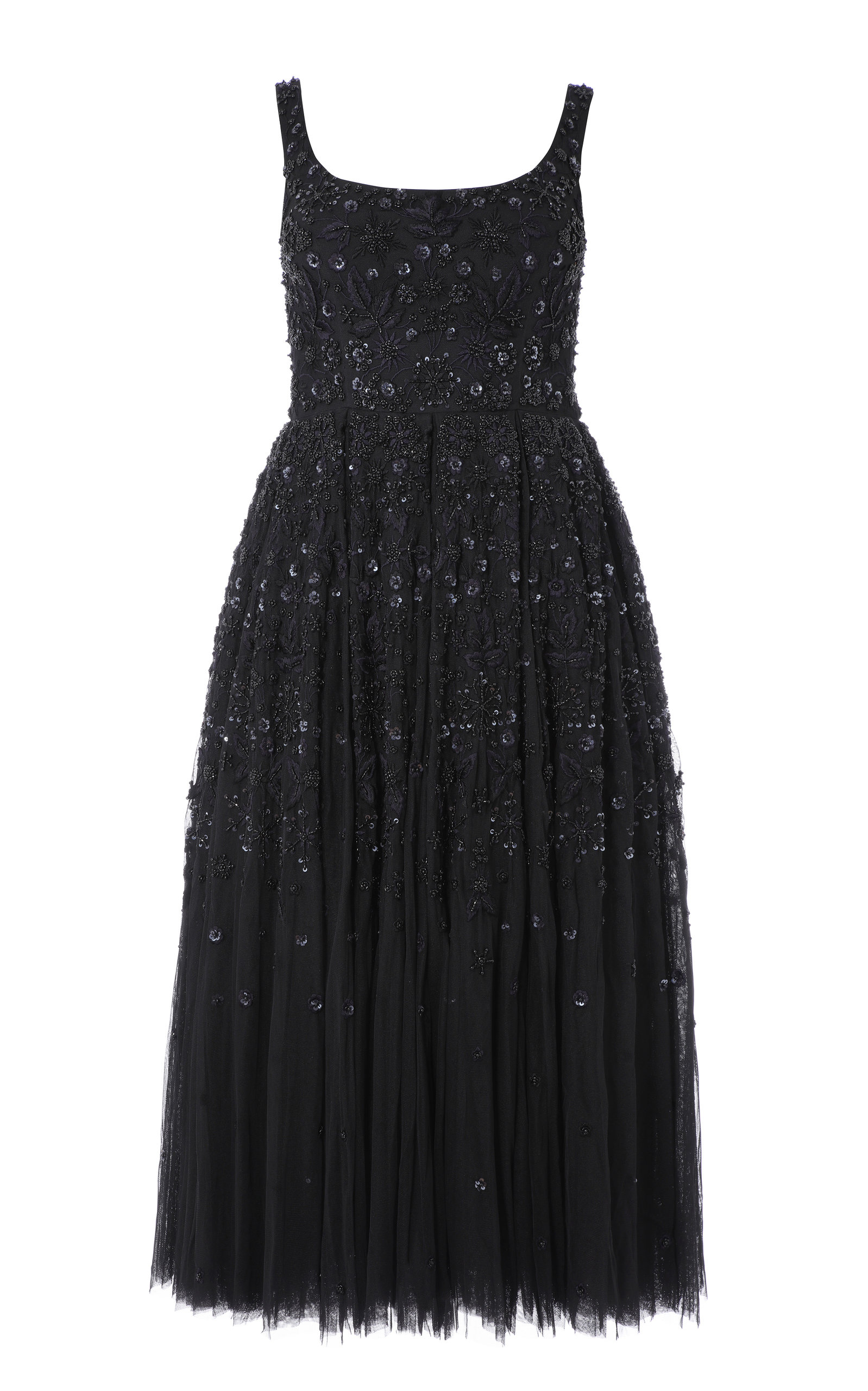 Buy Needle & Thread Snowflake Sequin-Embellished Tulle Midi Dress online, shop Needle & Thread at the best price