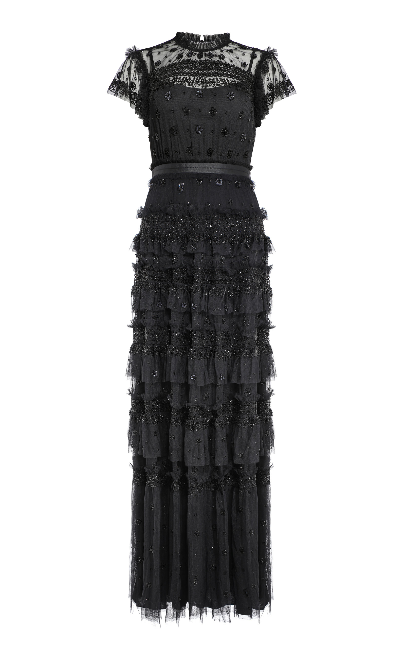 Buy Needle & Thread Andromeda Tiered Ruffle Dress online, shop Needle & Thread at the best price