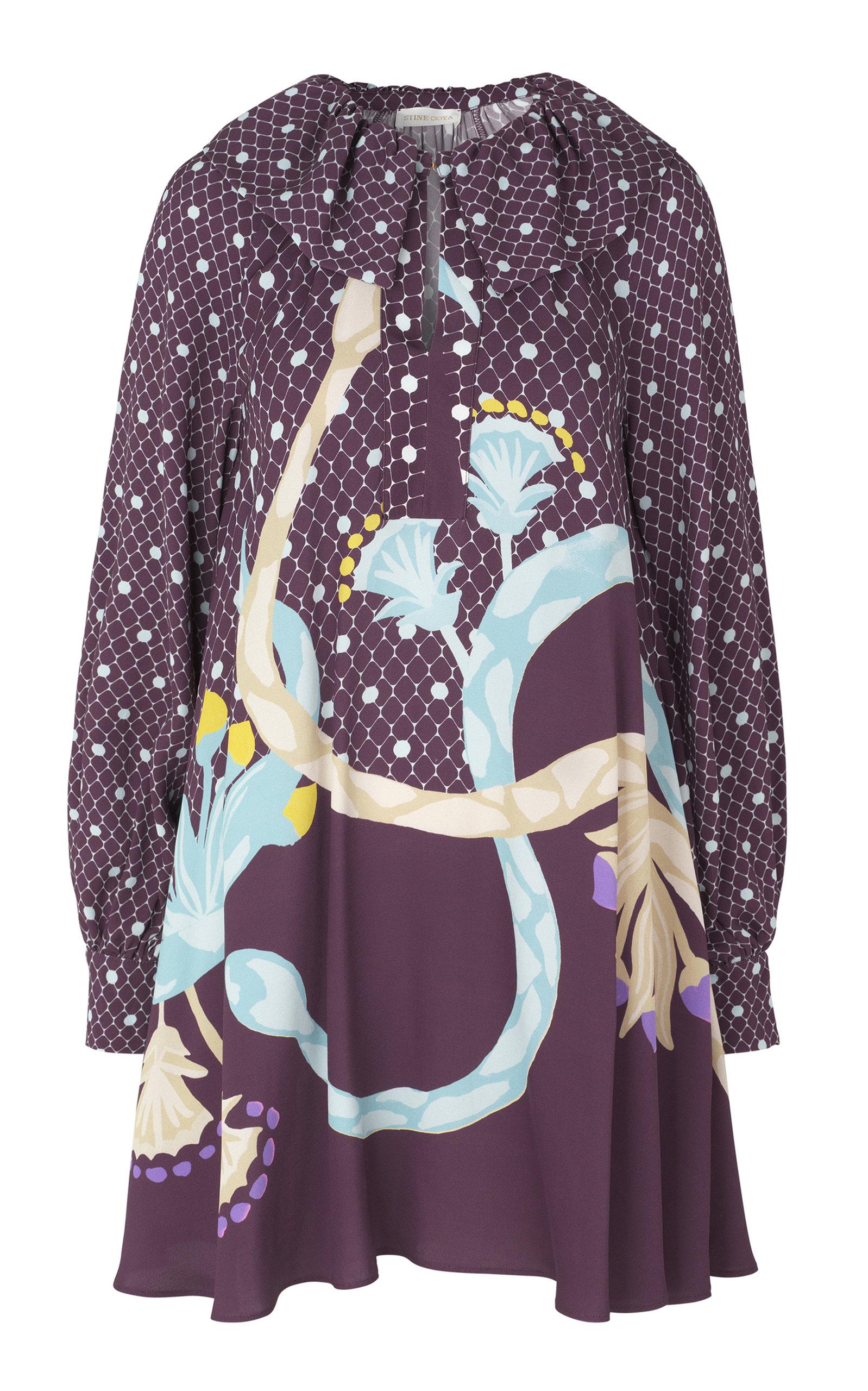 Buy Stine Goya Vini Collared Mini Dress online, shop Stine Goya at the best price