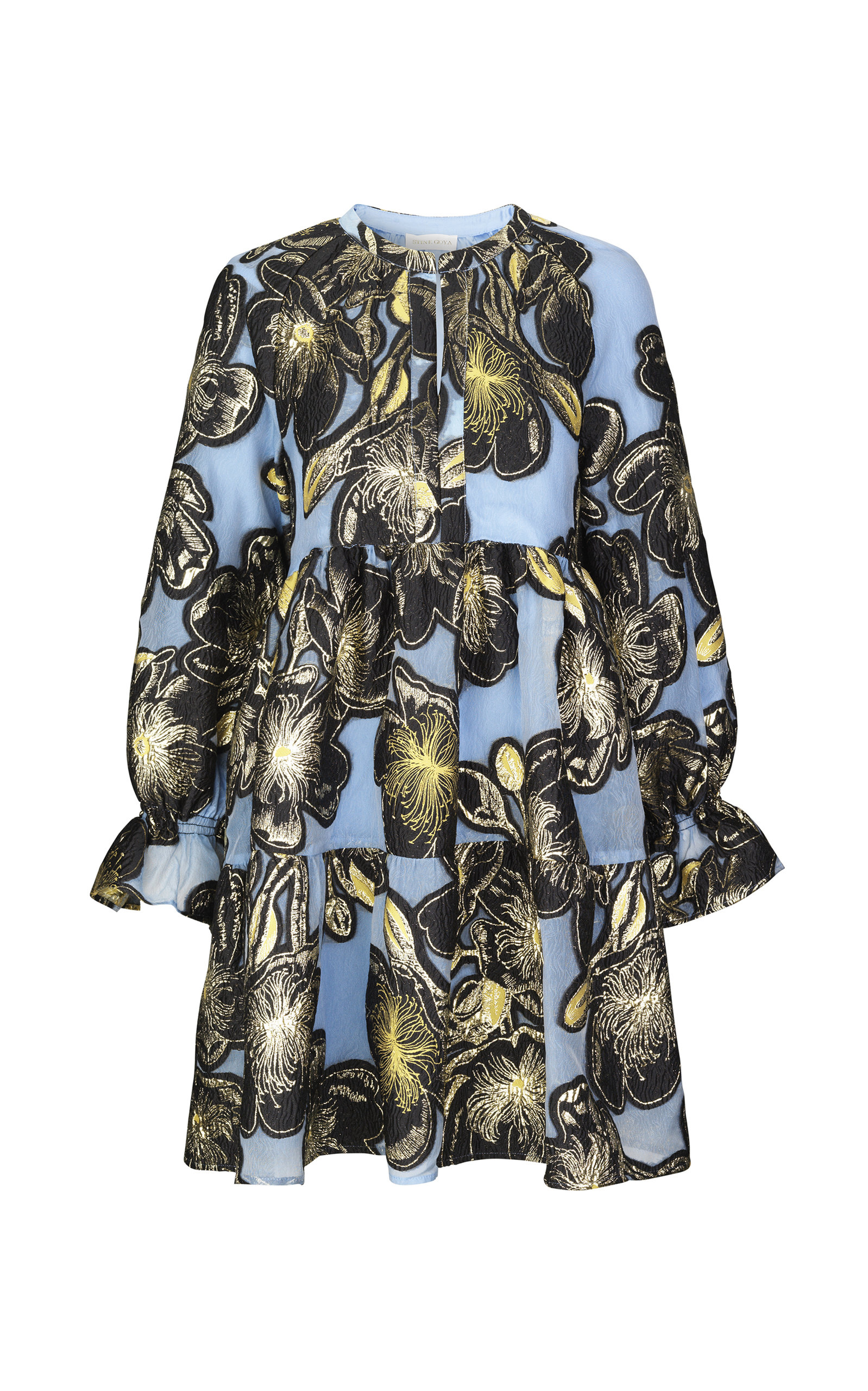 Buy Stine Goya Ivana Floral-Jacquard Mini Dress online, shop Stine Goya at the best price