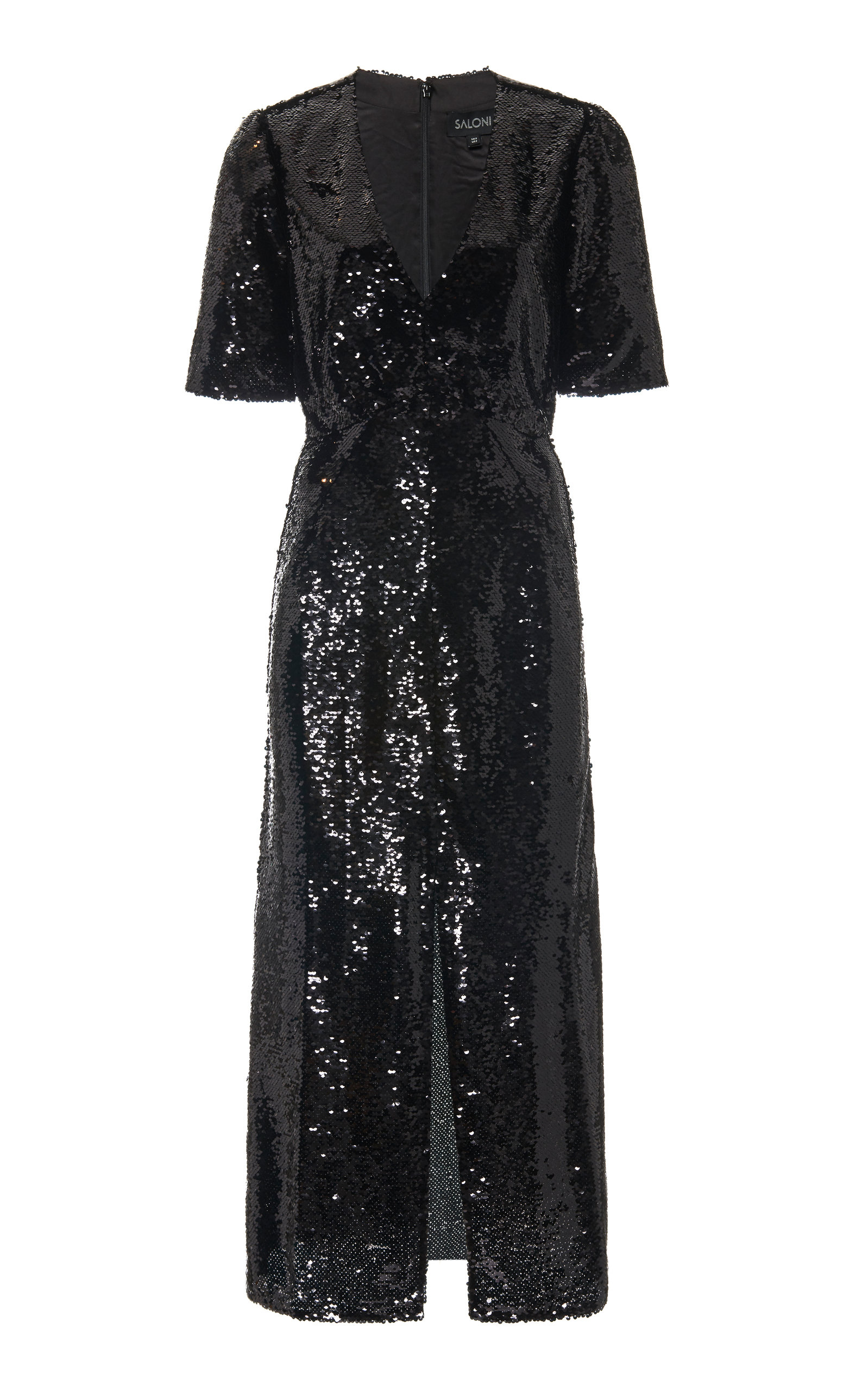 Buy Saloni Eden Sequined Silk Midi Dress online, shop Saloni at the best price