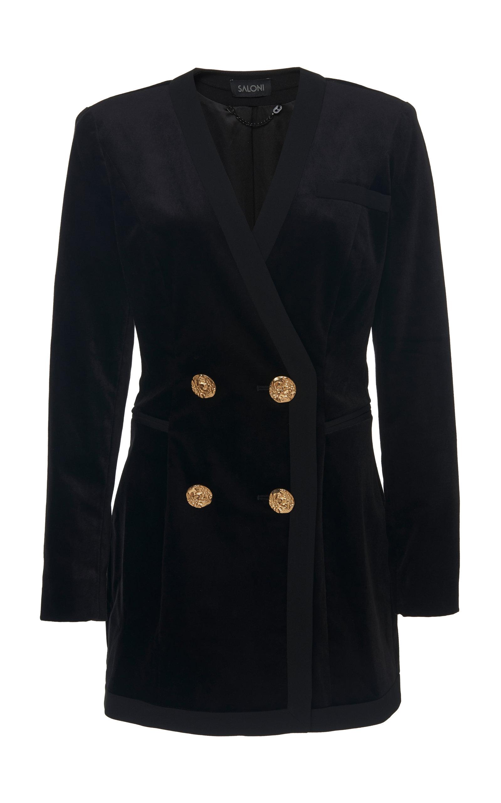 Buy Saloni Bree Velvet Mini Dress online, shop Saloni at the best price