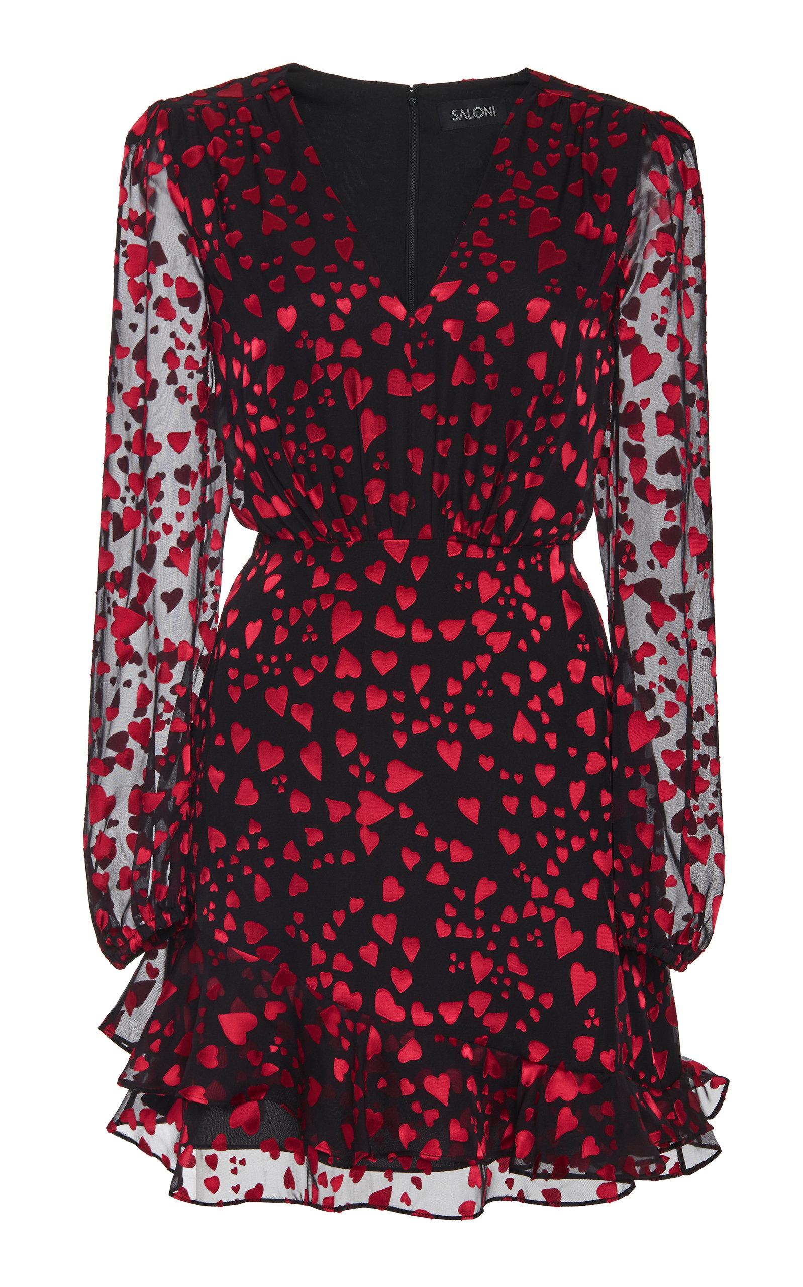 Buy Saloni Alya Printed Silk-Blend Mini Dress online, shop Saloni at the best price