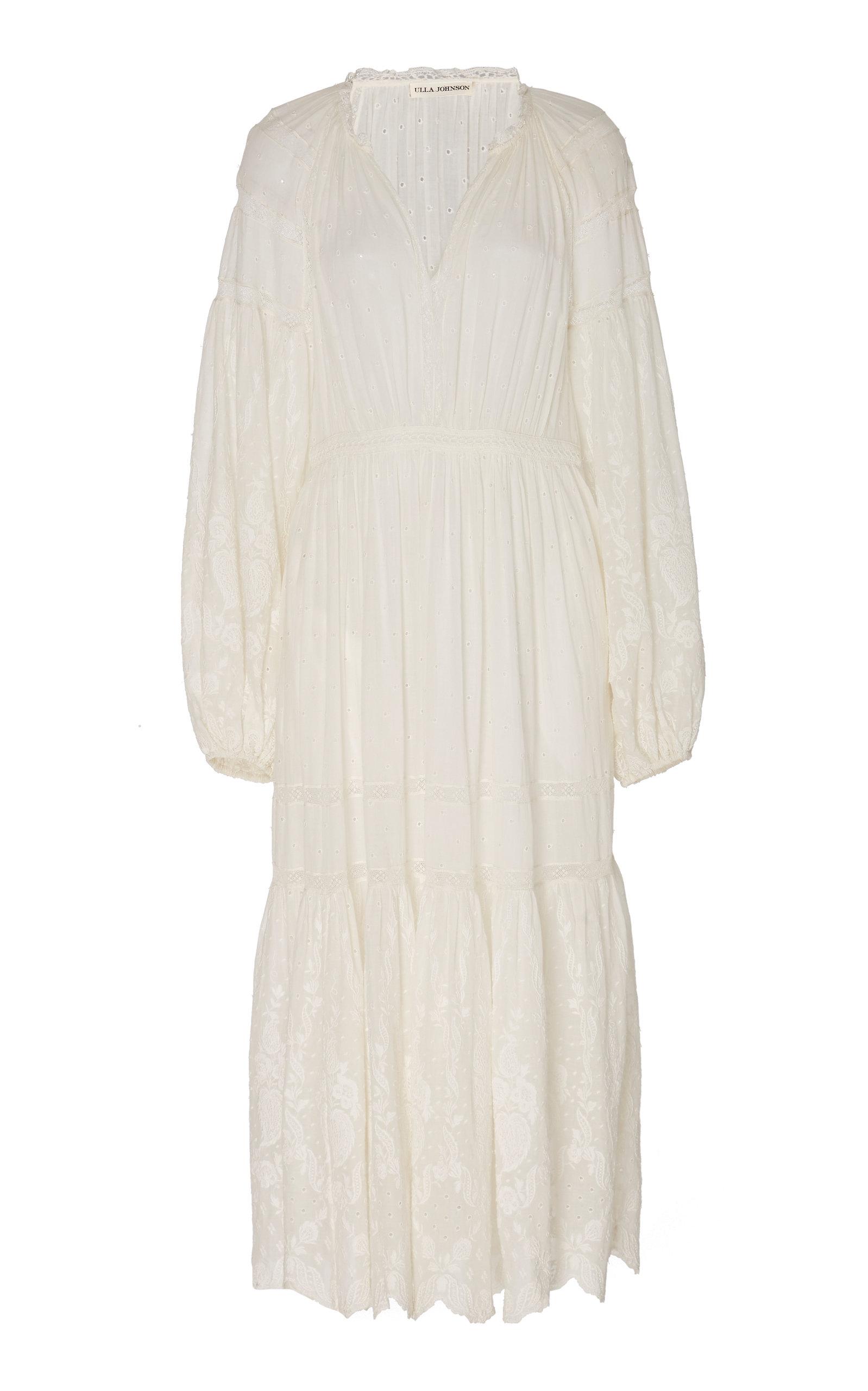 Buy Ulla Johnson Bettina Cotton Eyelet Dress online, shop Ulla Johnson at the best price