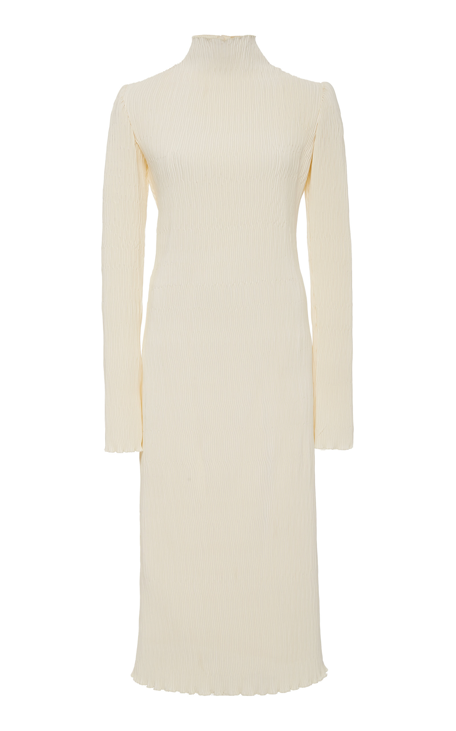 Buy Danielle Frankel Adrienne Pleated Silk and Wool Midi Dress online, shop Danielle Frankel at the best price