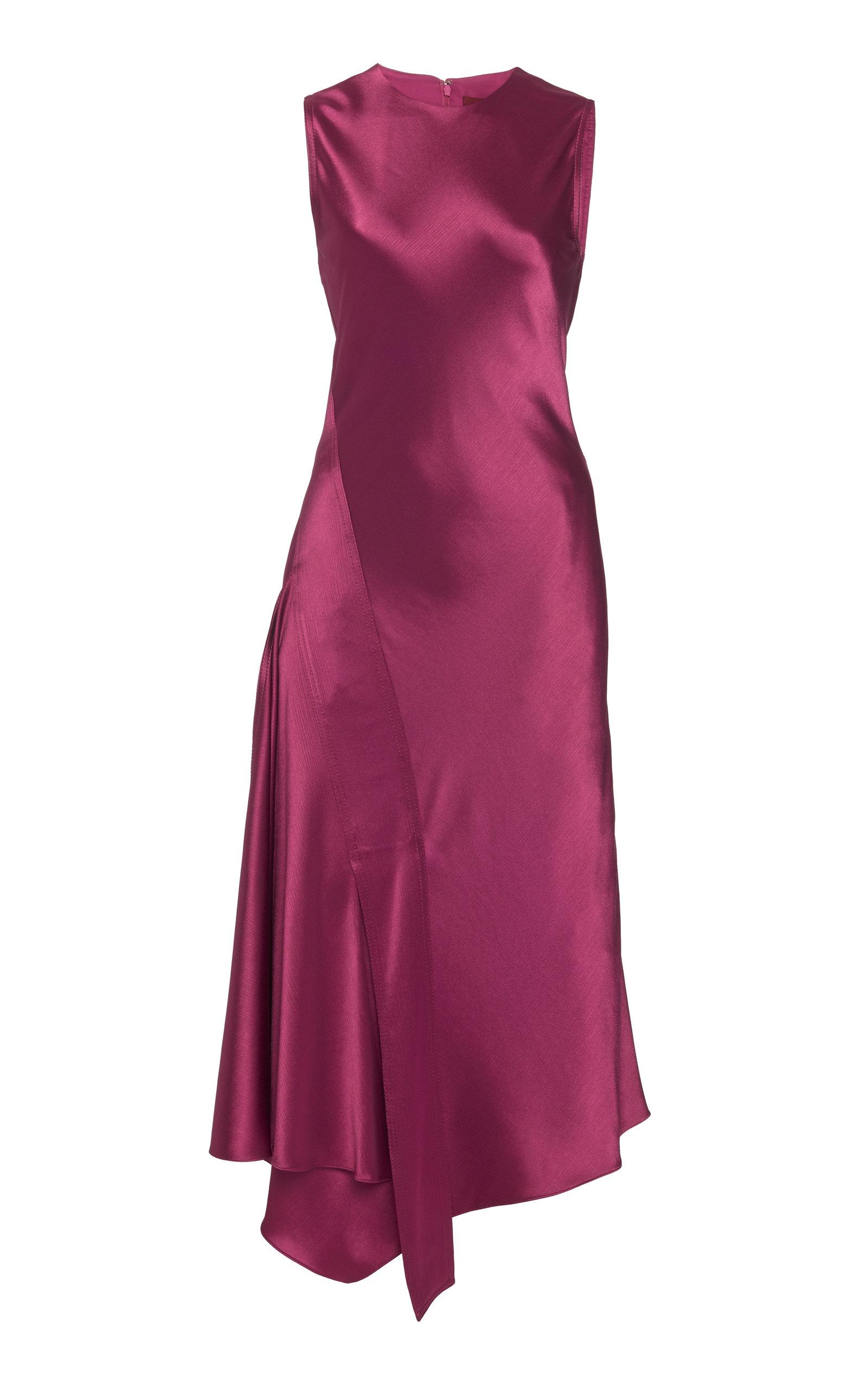 Buy Sies Marjan Vanessa Crinkled Satin Midi Dress online, shop Sies Marjan at the best price