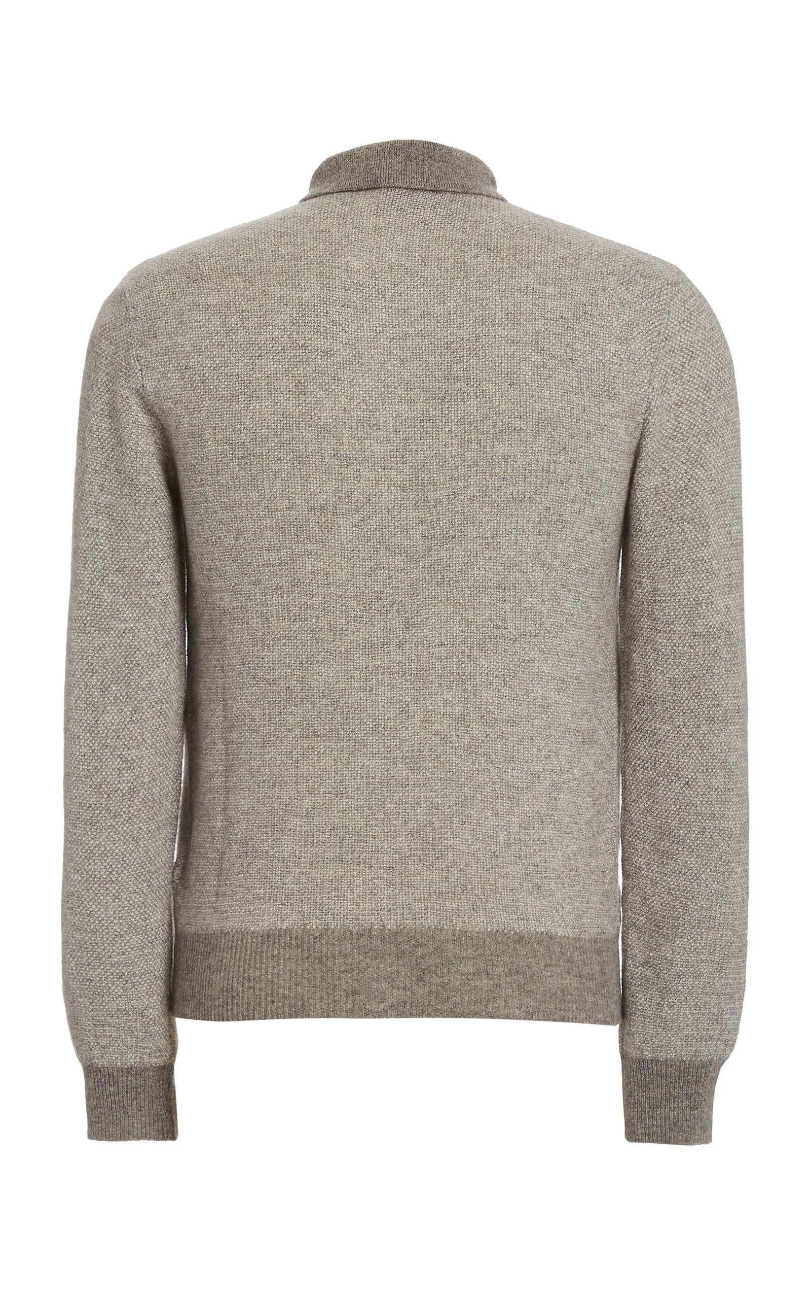 Ralph Lauren Purple Label Grey Crewneck Jersey T-Shirt Sweater New $395