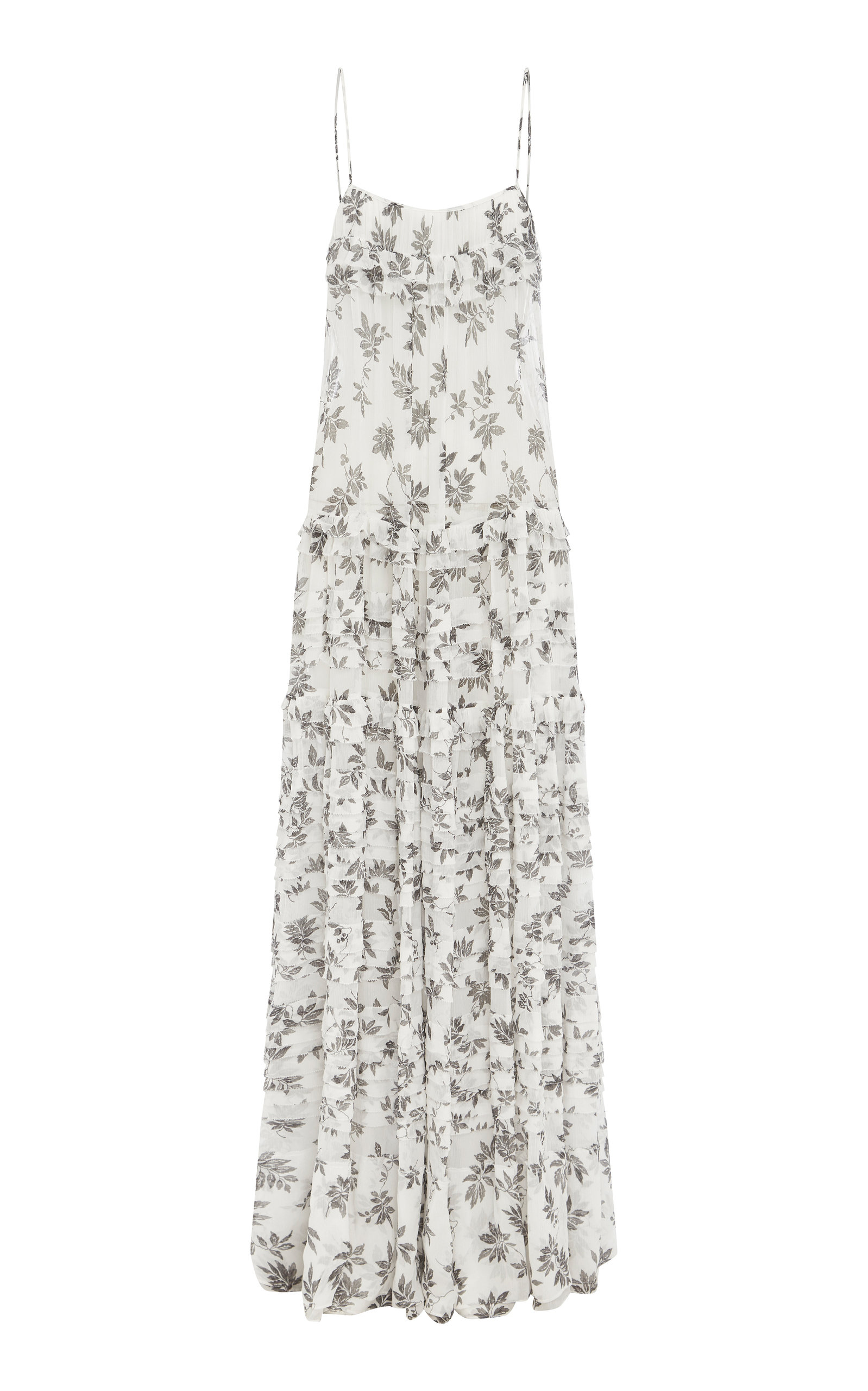 Buy LEE MATHEWS Lucy Printed Crinkled Silk Maxi Dress online, shop LEE MATHEWS at the best price