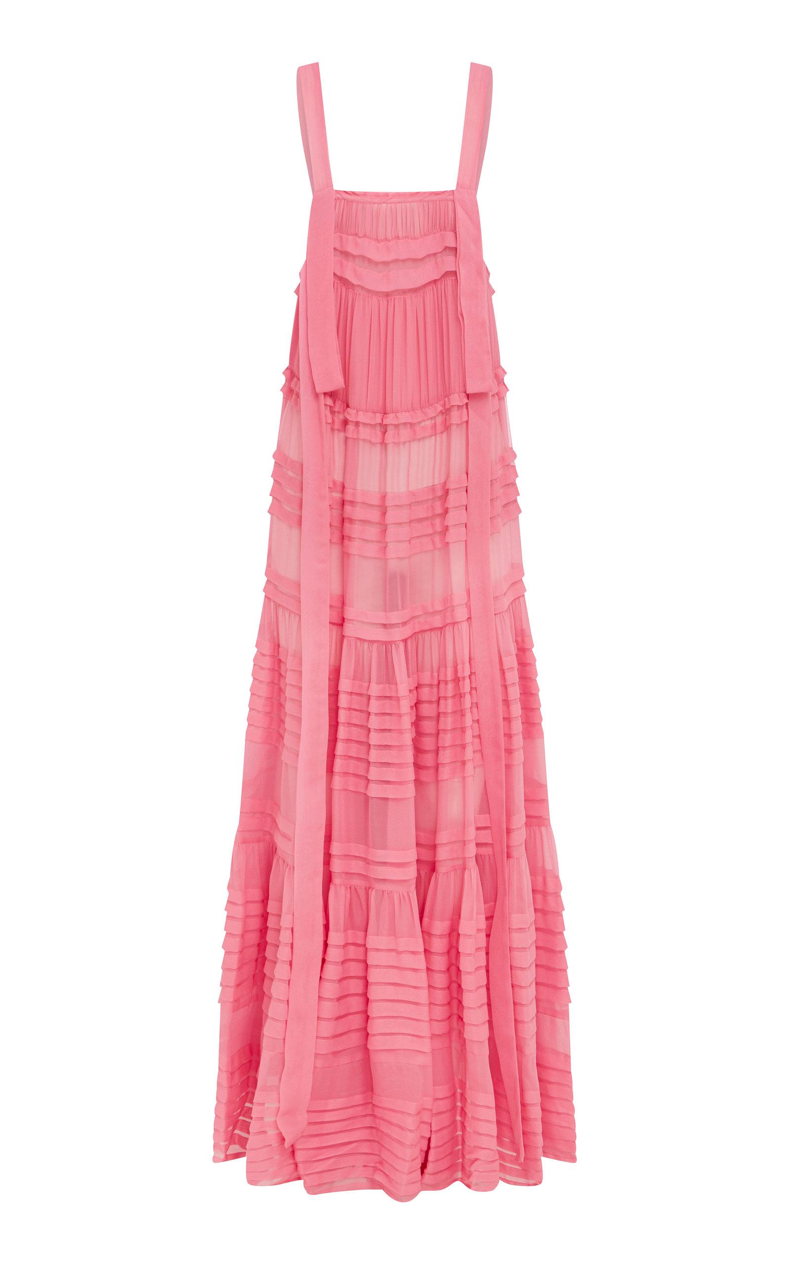 Buy LEE MATHEWS Kitty Ruffled Silk-Chiffon Maxi Dress online, shop LEE MATHEWS at the best price