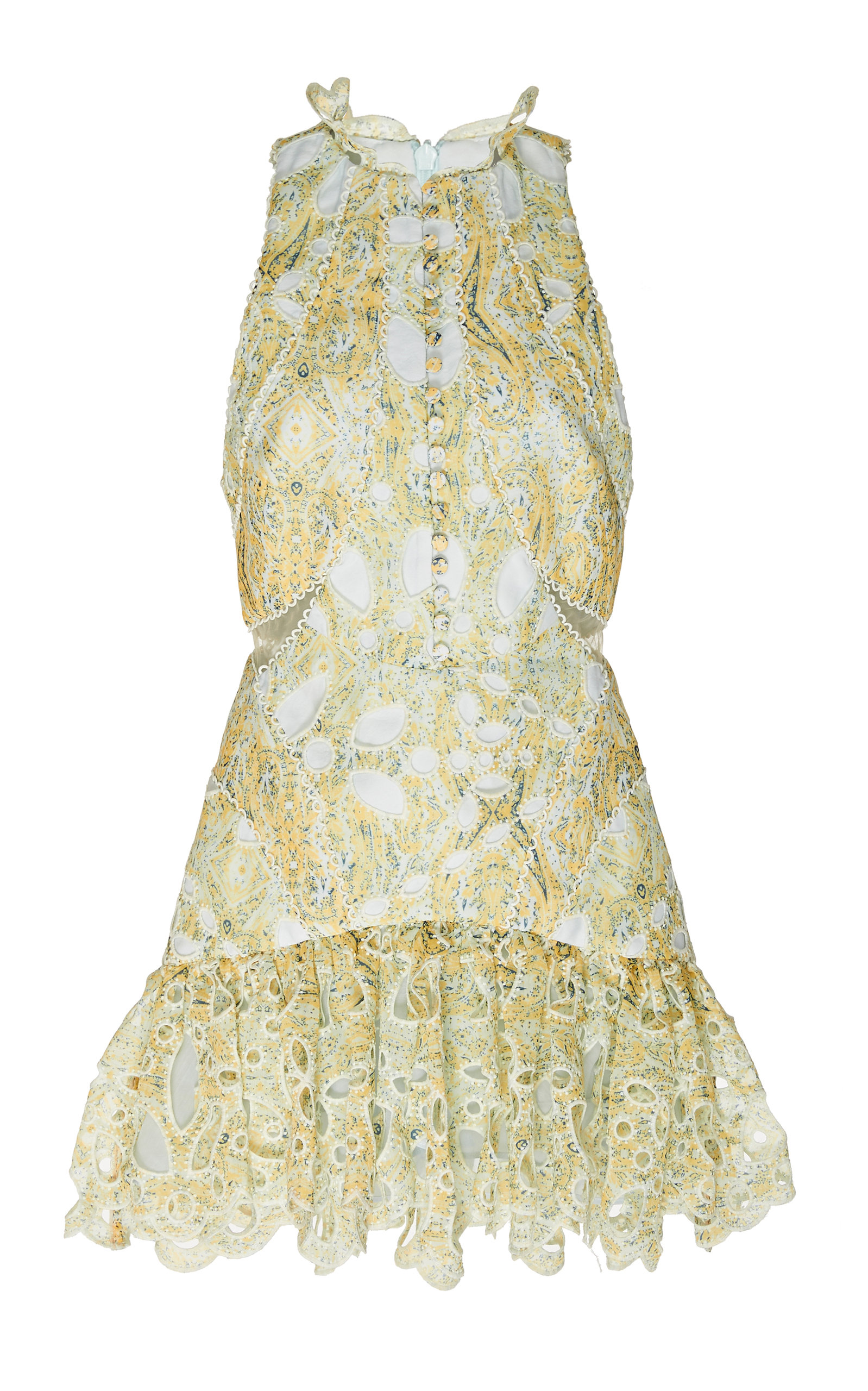 Buy Acler Meredith Printed Lace Mini Dress online, shop Acler at the best price