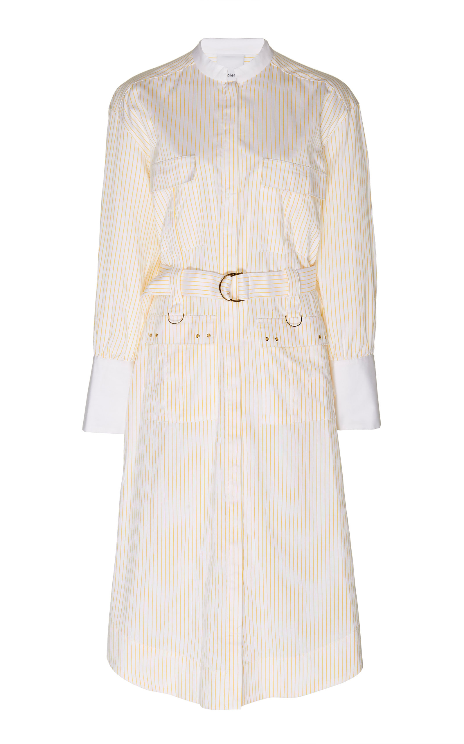 Buy Acler Edwin Belted Striped Cotton Midi Dress online, shop Acler at the best price