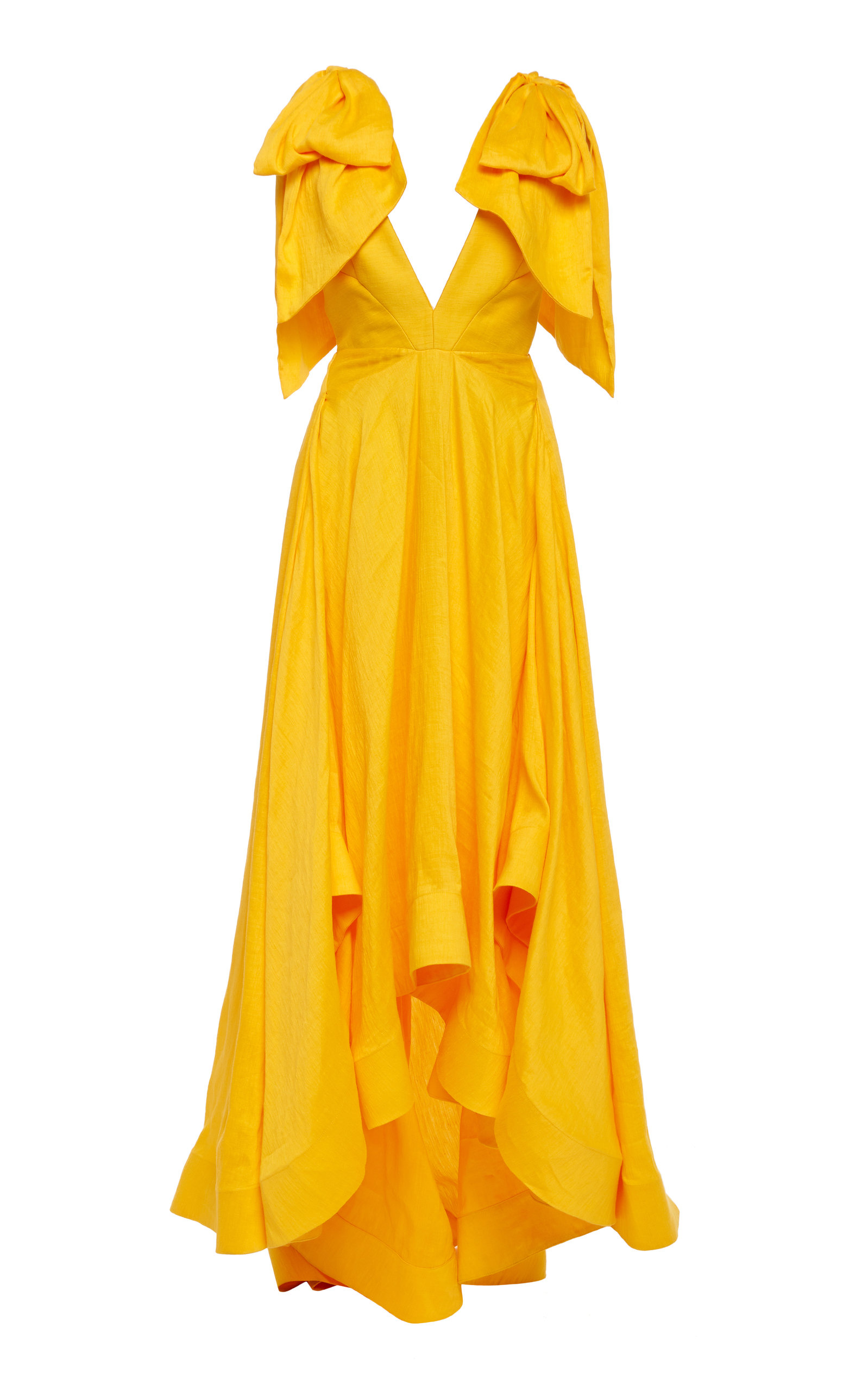 Buy Acler Bargo Asymmetric Ruffled Linen-Blend Gown online, shop Acler at the best price