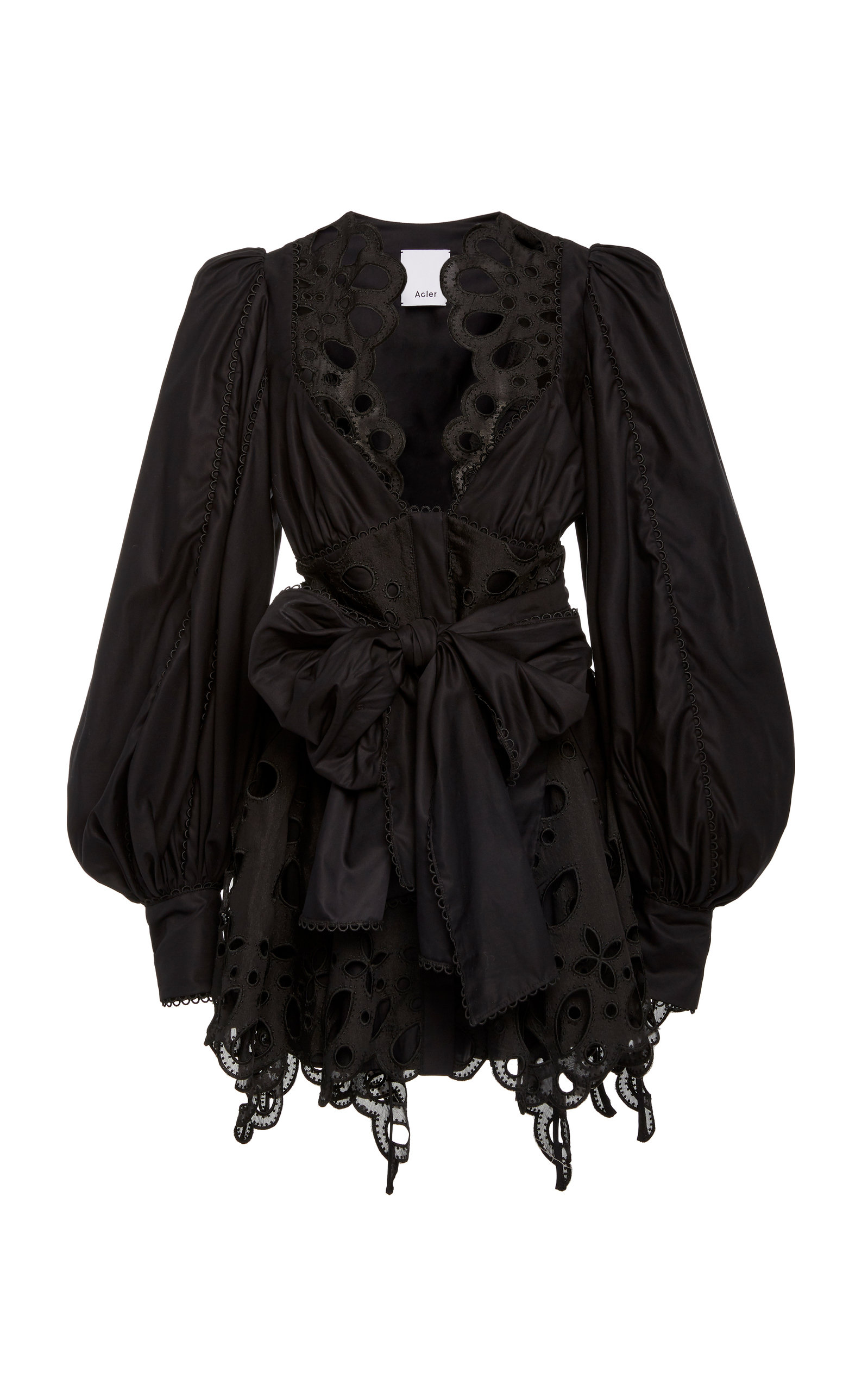 Buy Acler Vicount Tie-Front Cotton Broderie-Anglaise Dress online, shop Acler at the best price