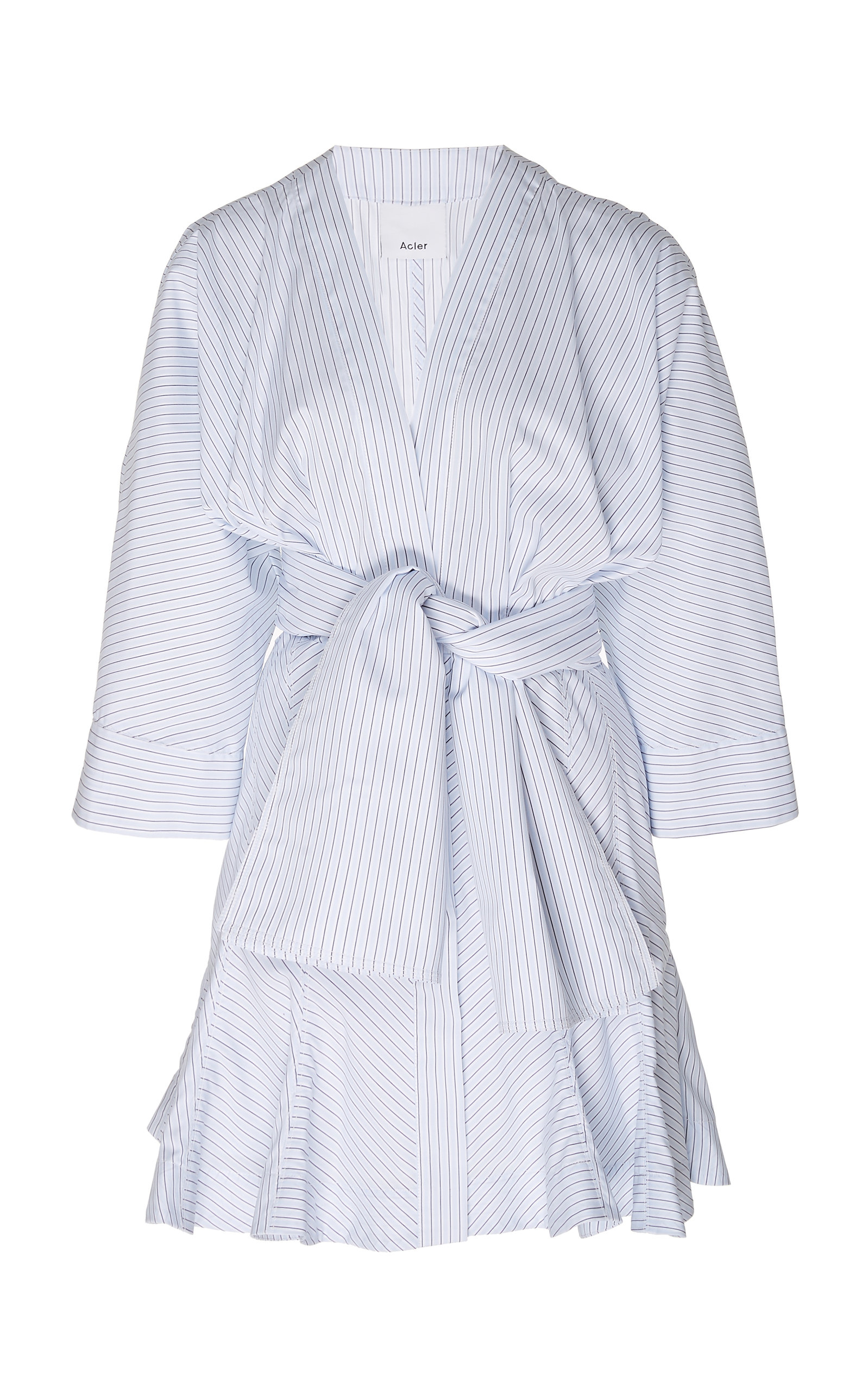 Buy Acler Lipton Cotton Shirt Stripe Dress online, shop Acler at the best price