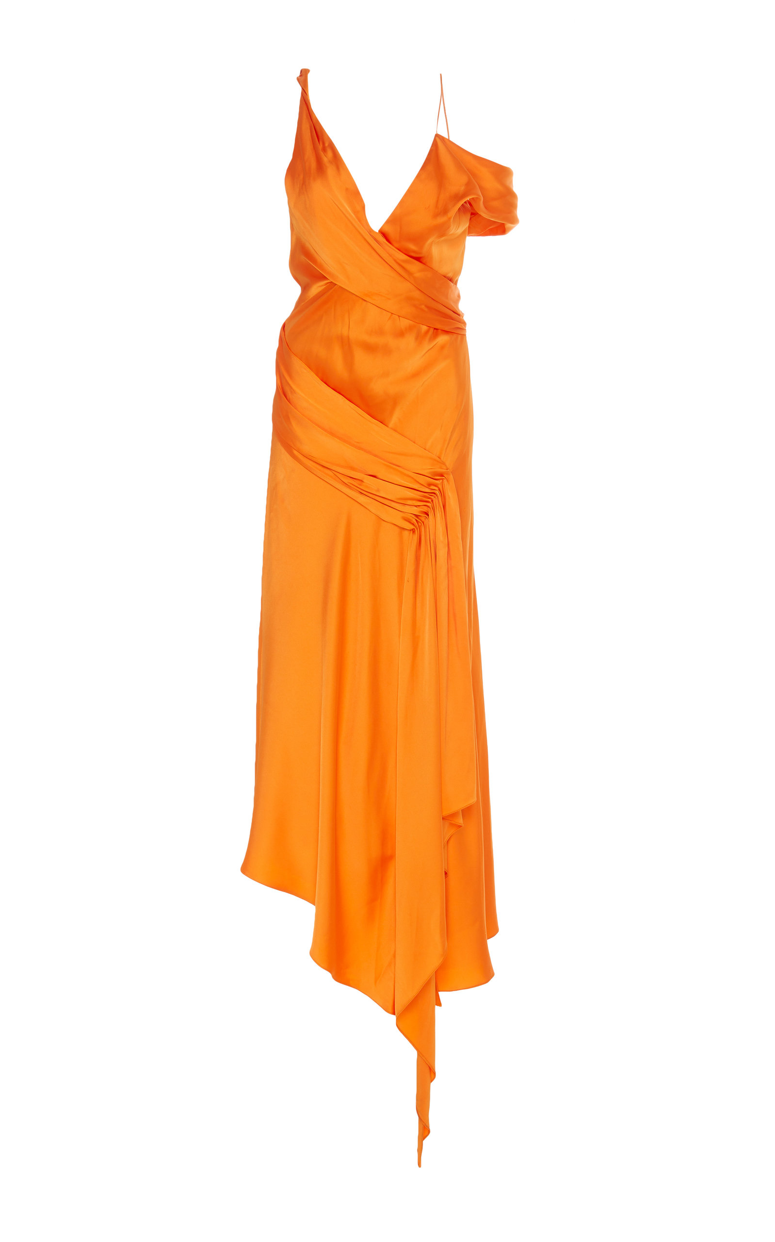 Buy Jonathan Simkhai Asymmetric Satin Midi Dress online, shop Jonathan Simkhai at the best price