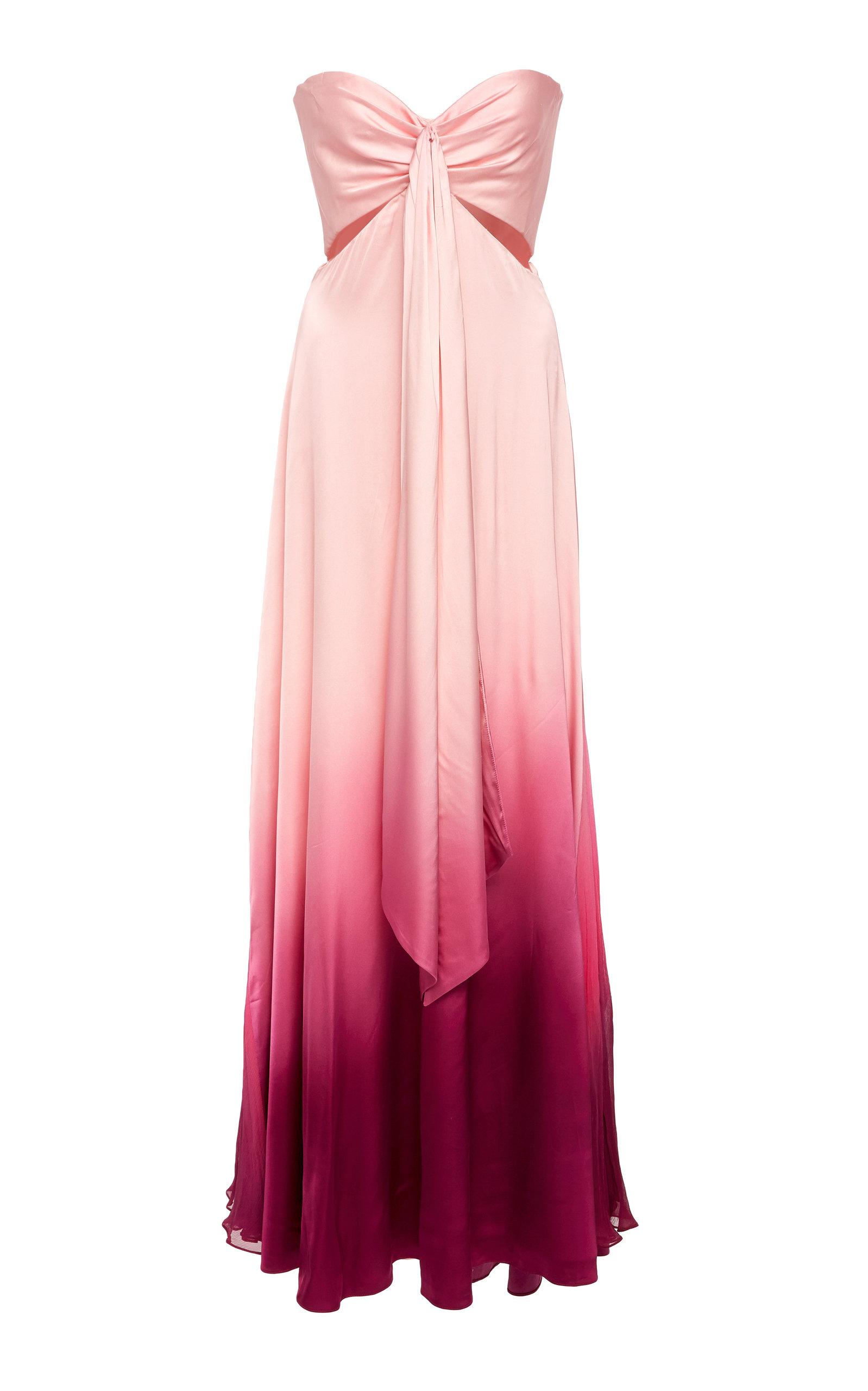 Buy Jonathan Simkhai Ombre Satin Cutout Bustier Maxi Dress online, shop Jonathan Simkhai at the best price